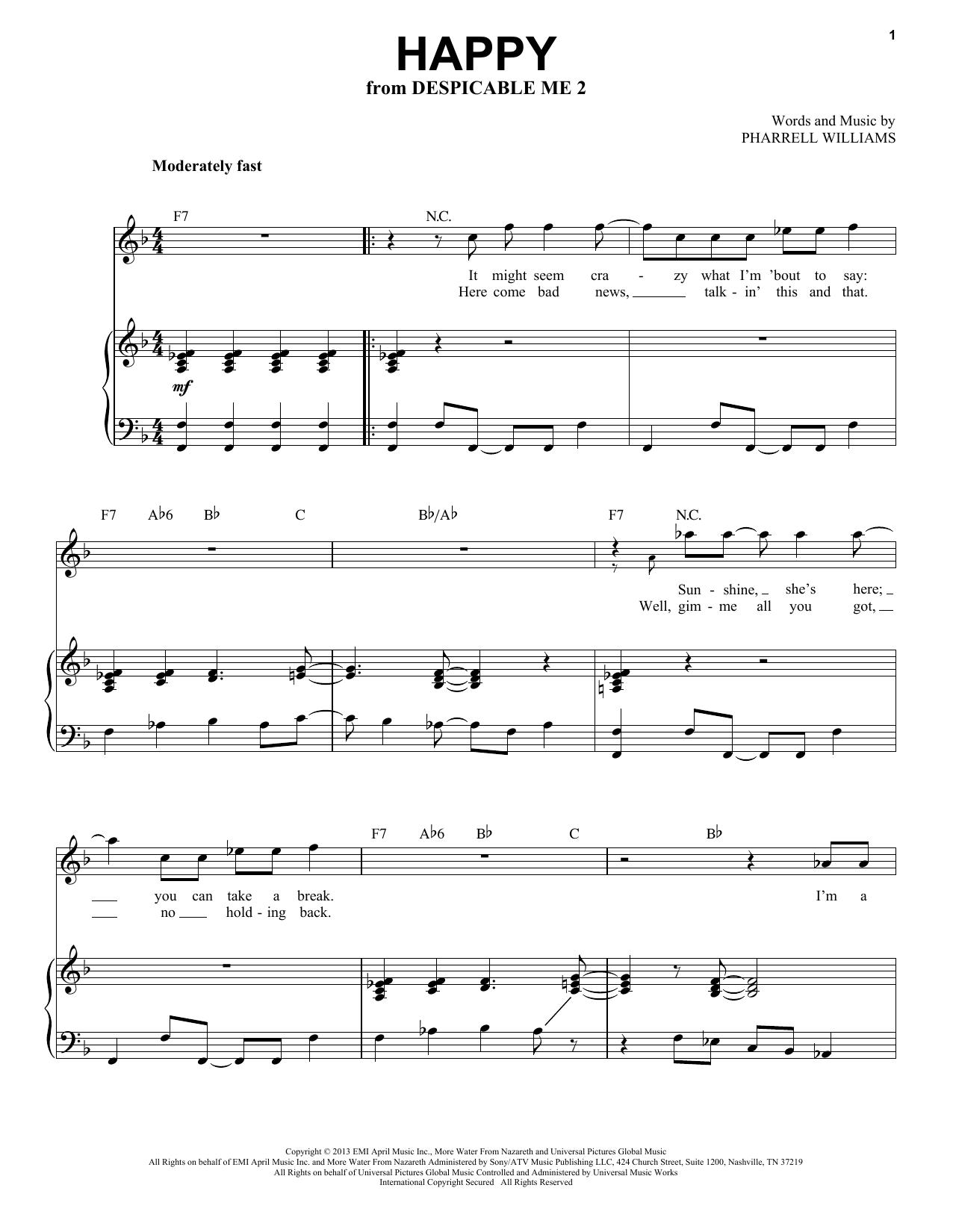Happy (Piano & Vocal)