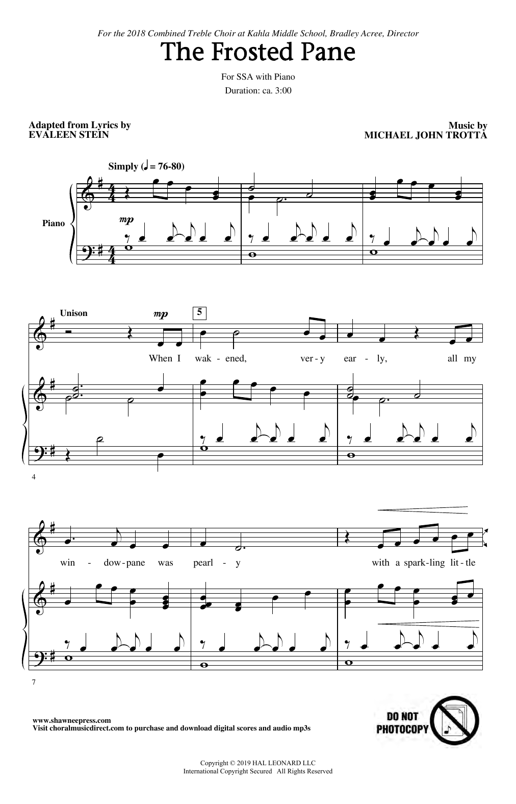 The Frosted Pane (SSA Choir)