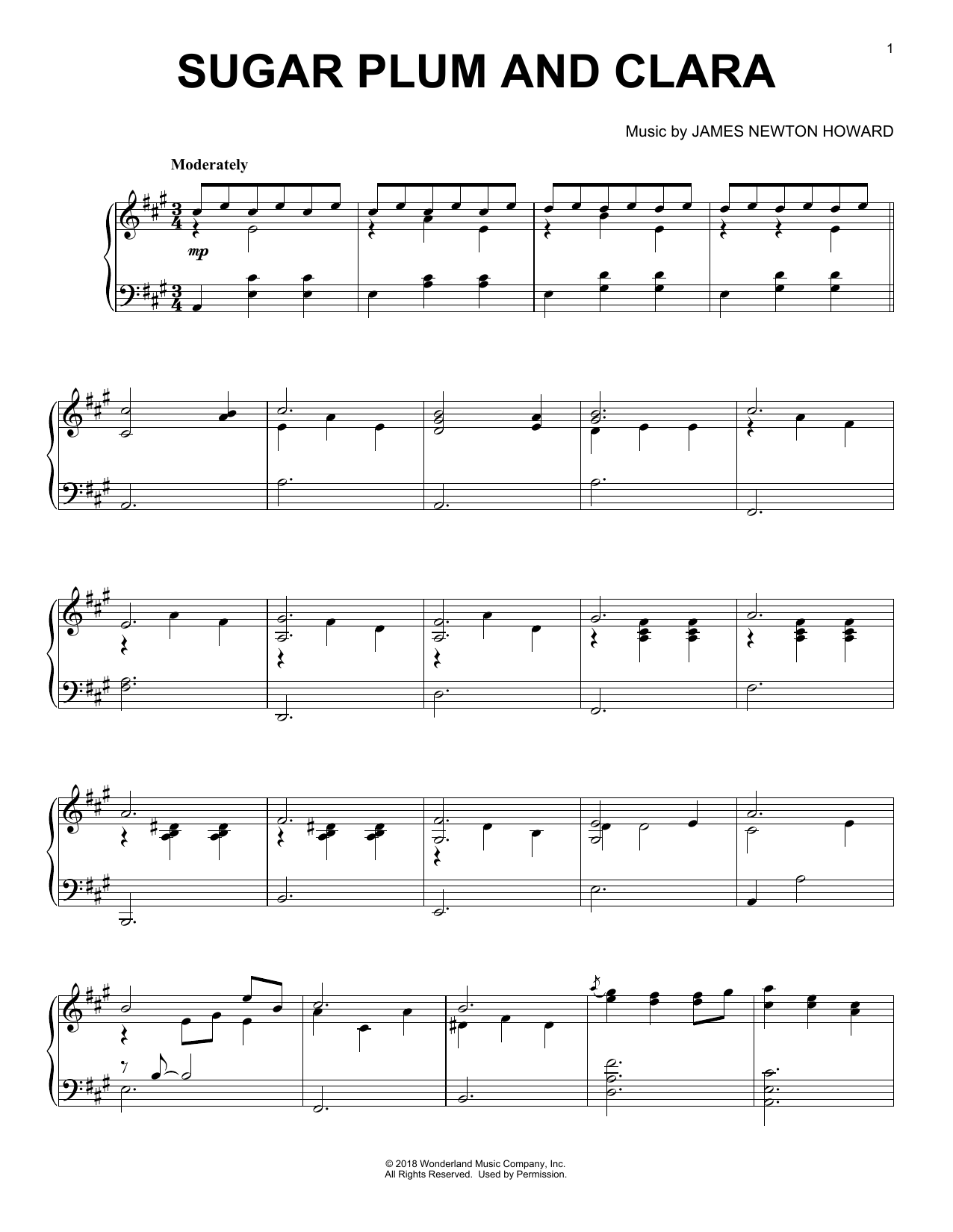 Sugar Plum And Clara (from The Nutcracker and The Four Realms) (Piano Solo)