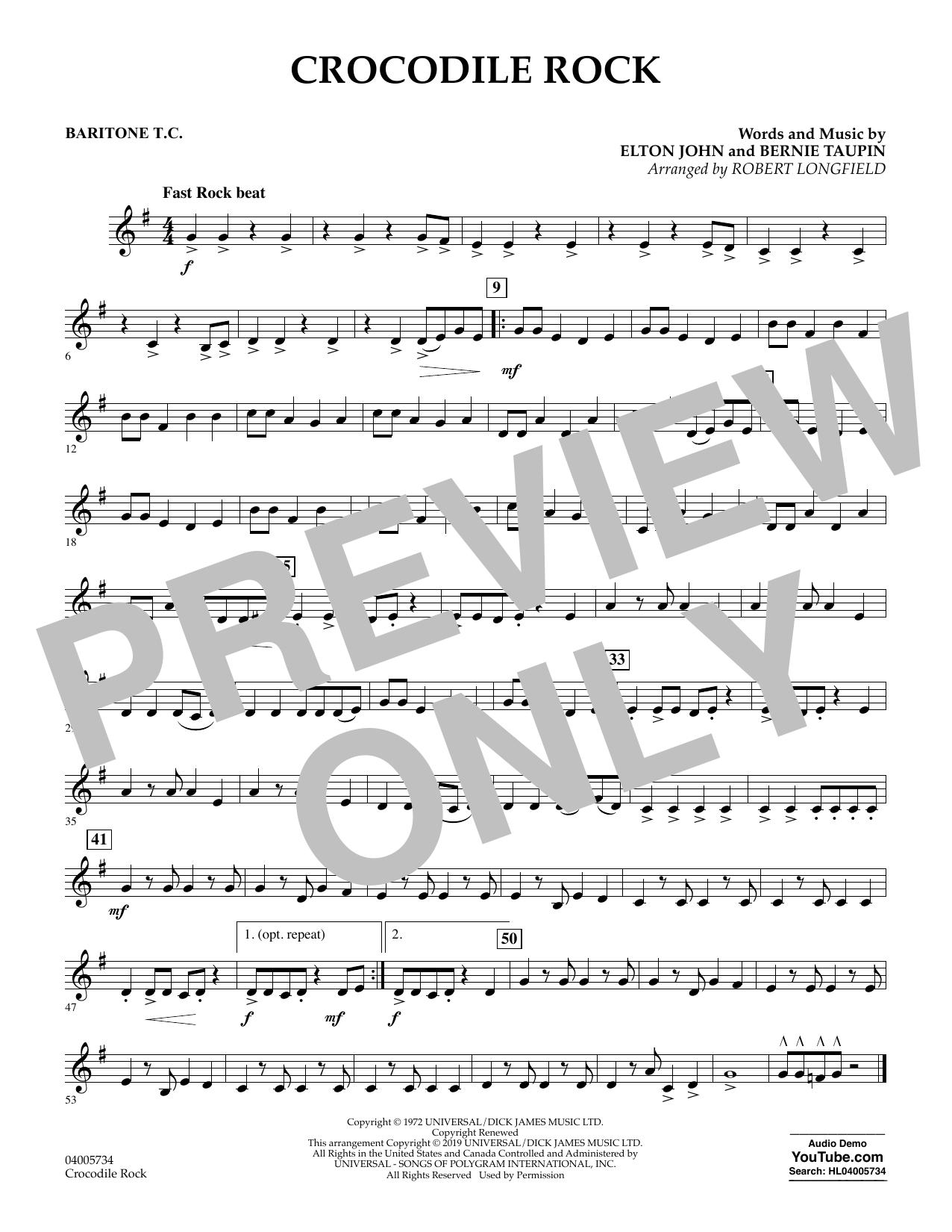 Crocodile Rock (arr. Robert Longfield) - Baritone T.C. (Concert Band)