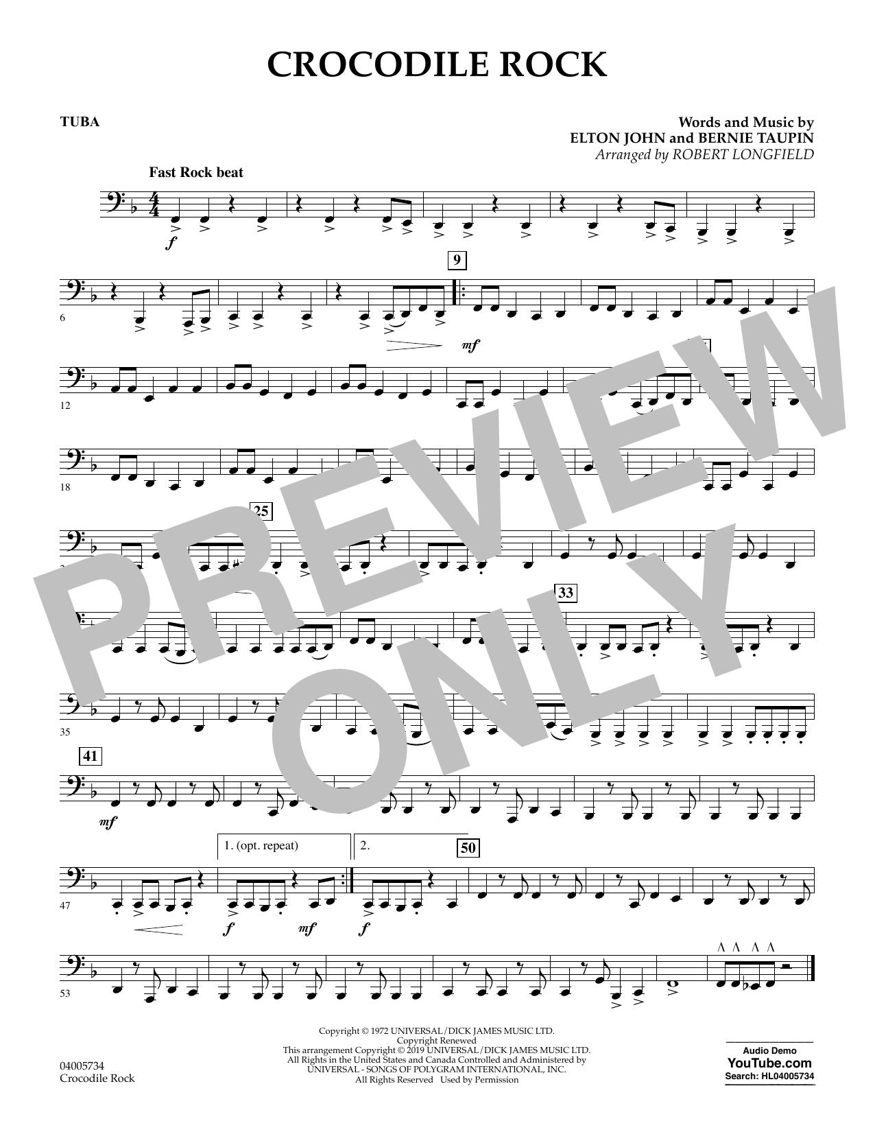 Crocodile Rock (arr. Robert Longfield) - Tuba (Concert Band)