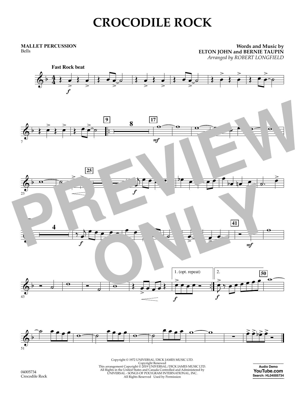 Crocodile Rock (arr. Robert Longfield) - Mallet Percussion (Concert Band)