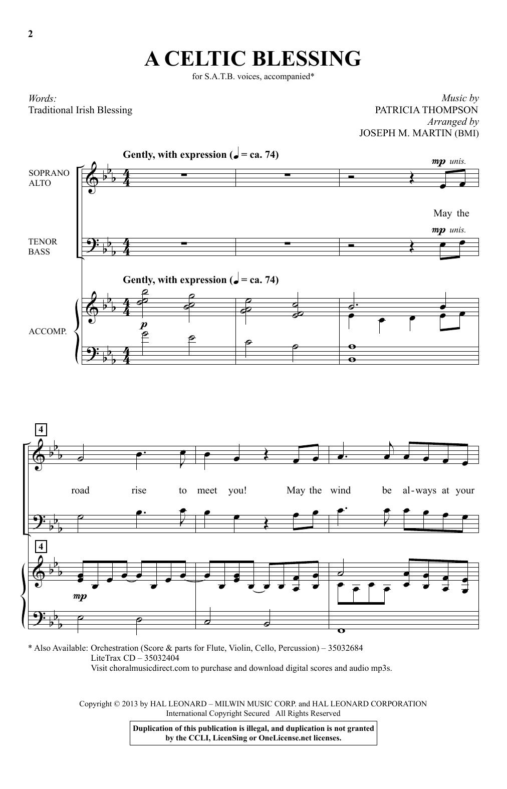 A Celtic Blessing (arr. Joseph M. Martin) (SATB Choir)