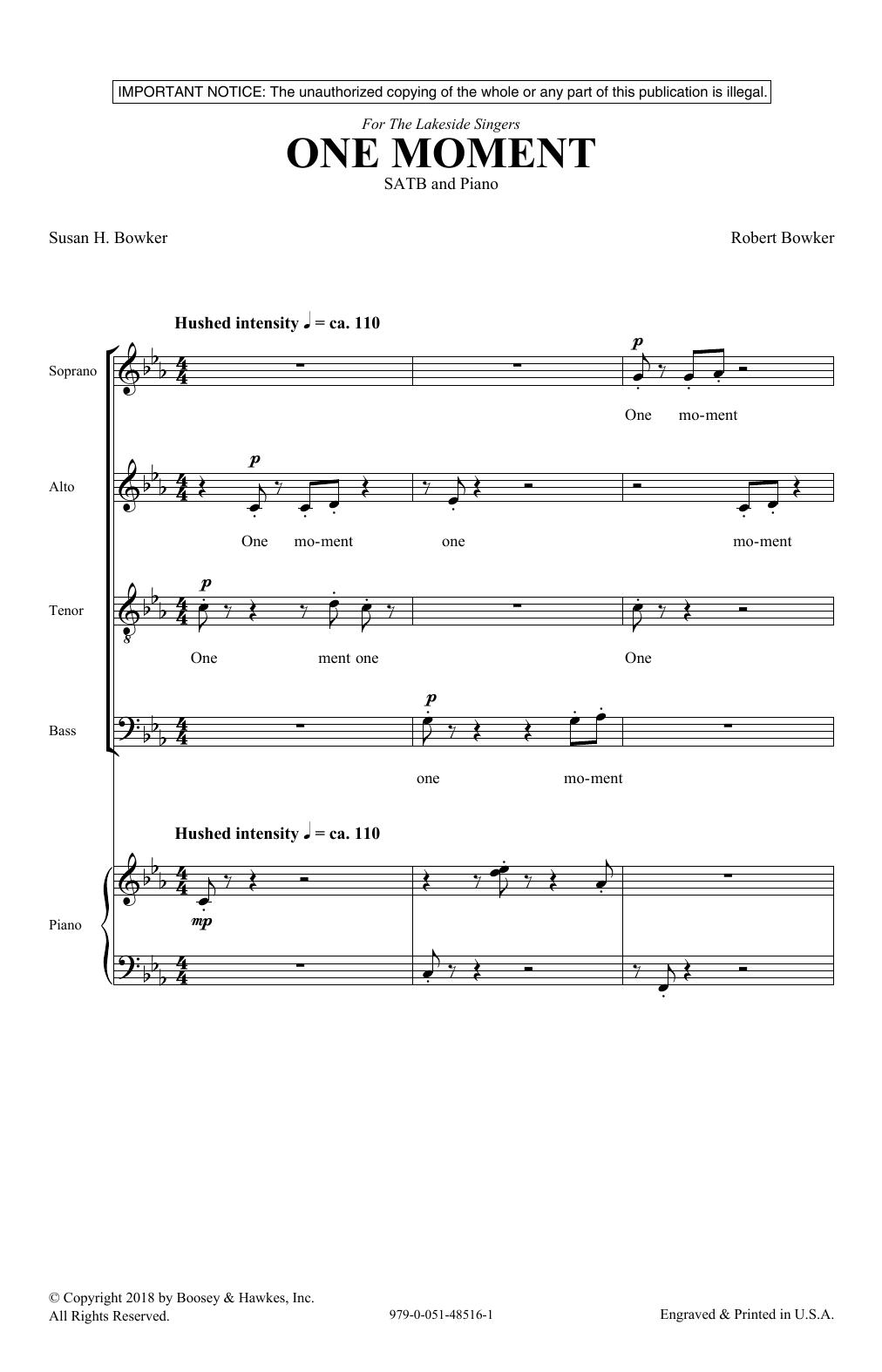 One Moment (SATB Choir)