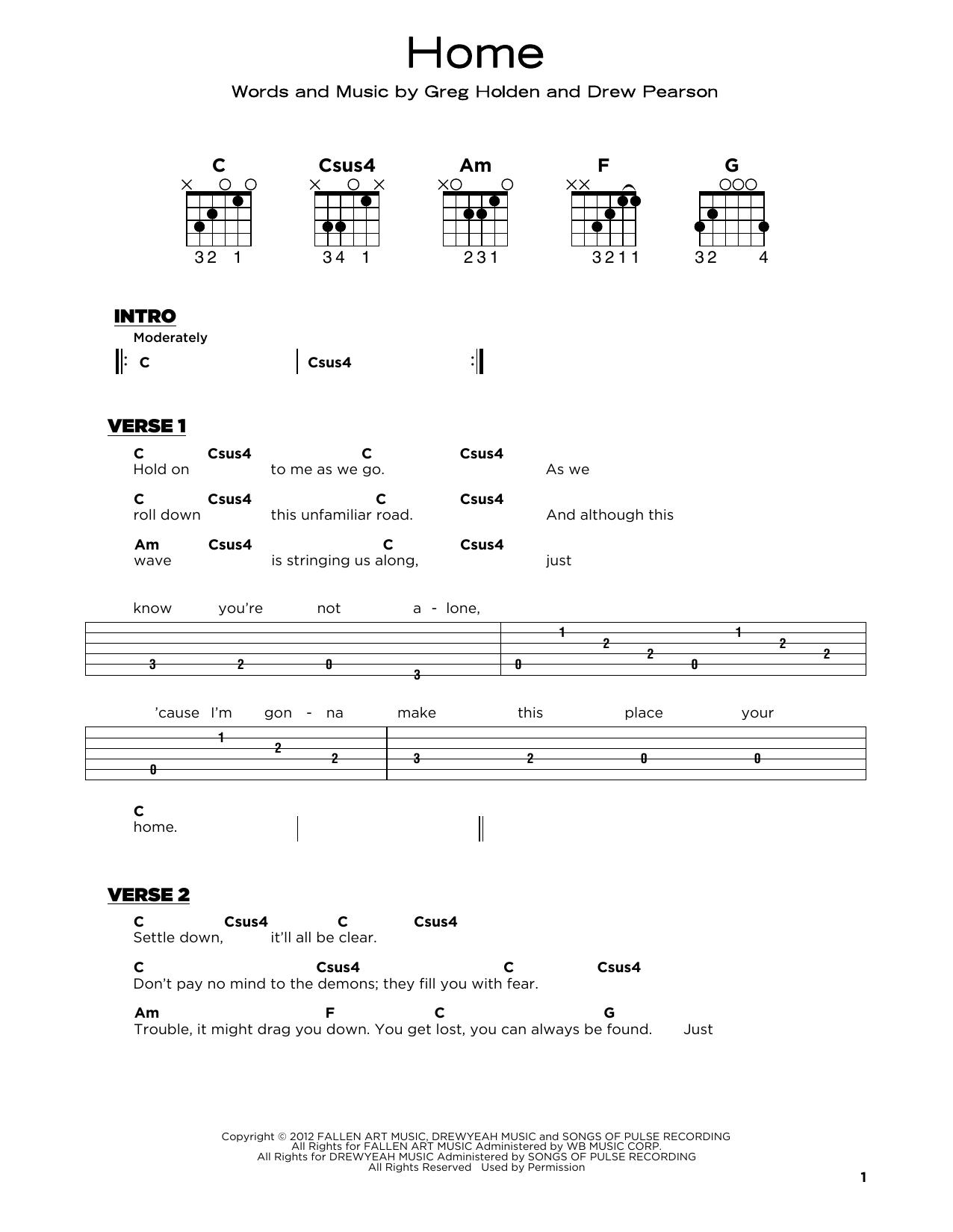 Home (Really Easy Guitar)
