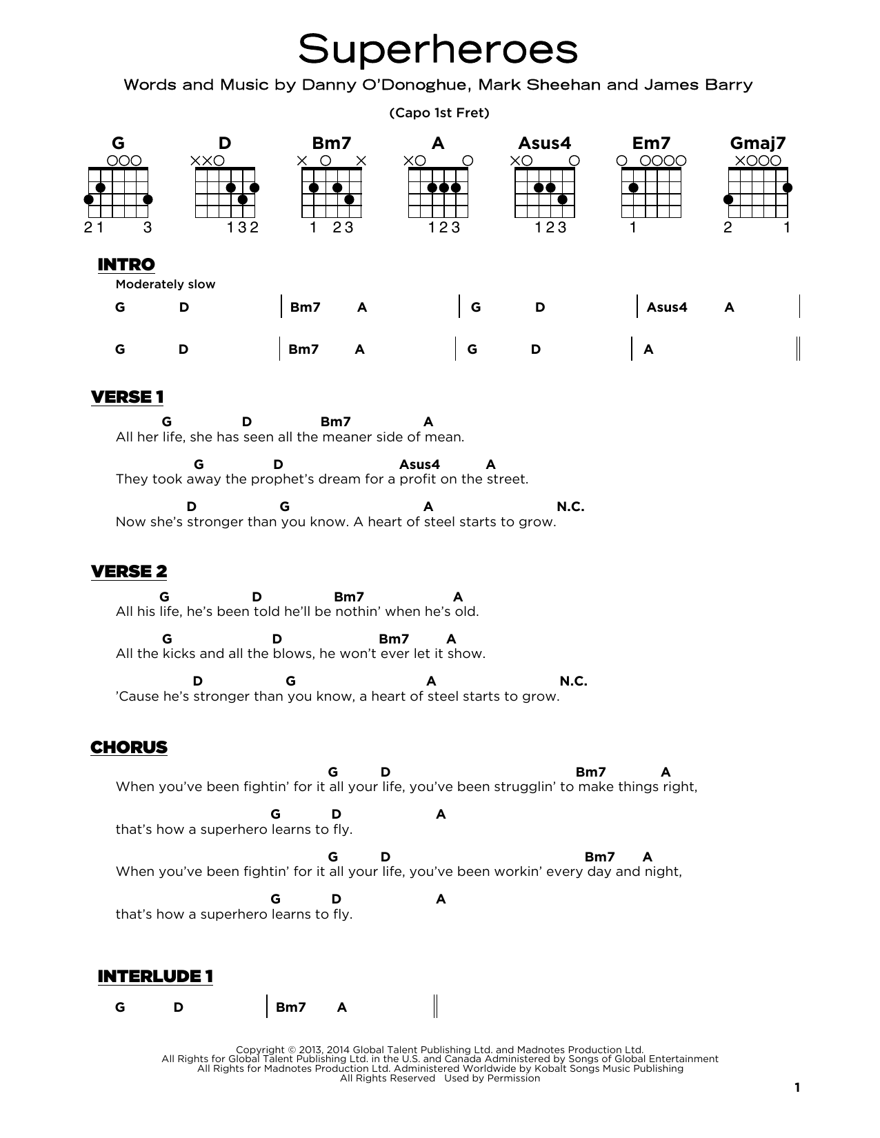 Superheroes (Really Easy Guitar)