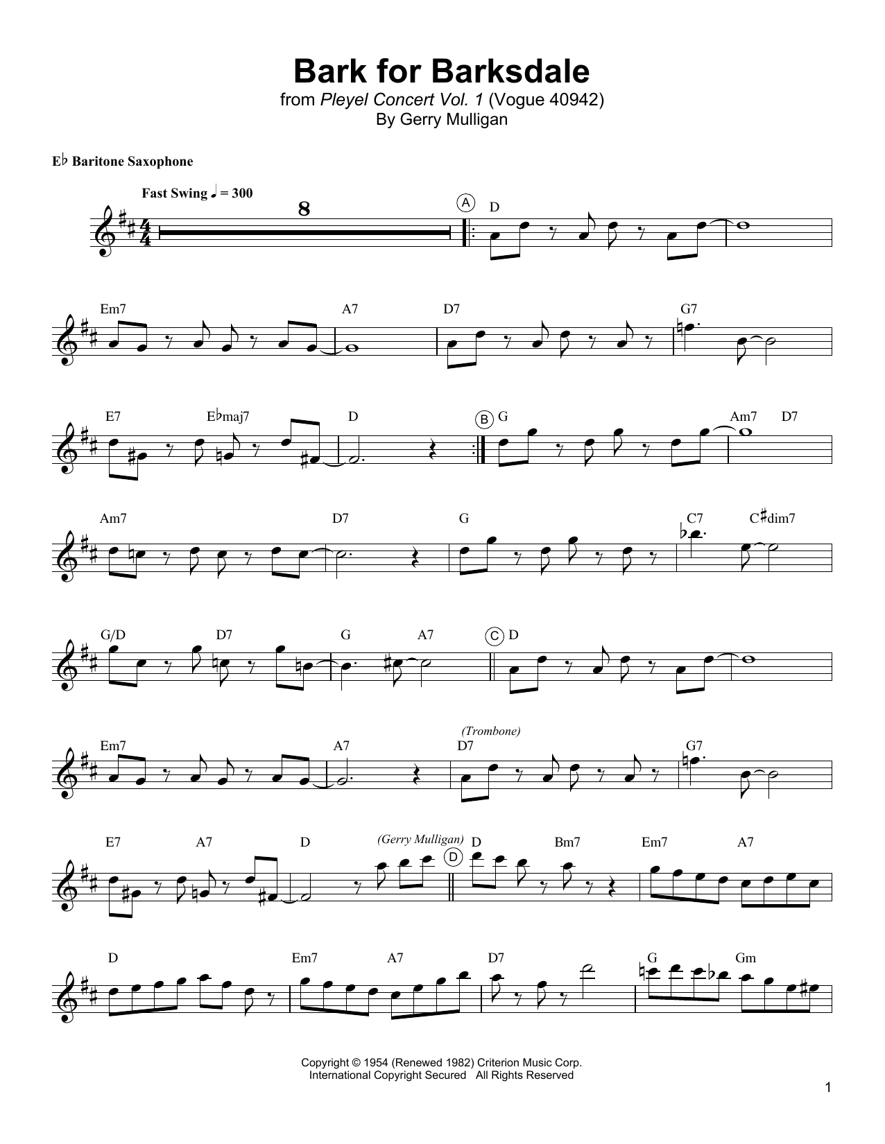 Bark For Barksdale Sheet Music