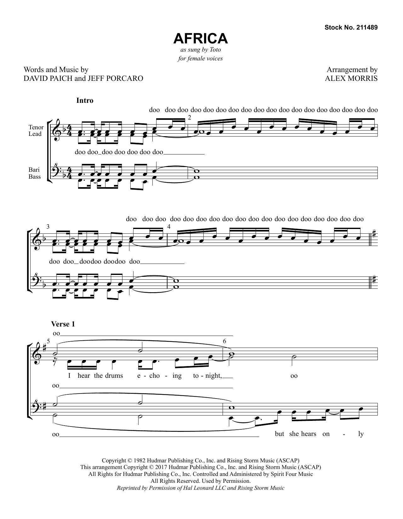 Africa (arr  Alex Morris) - Choral Music Download