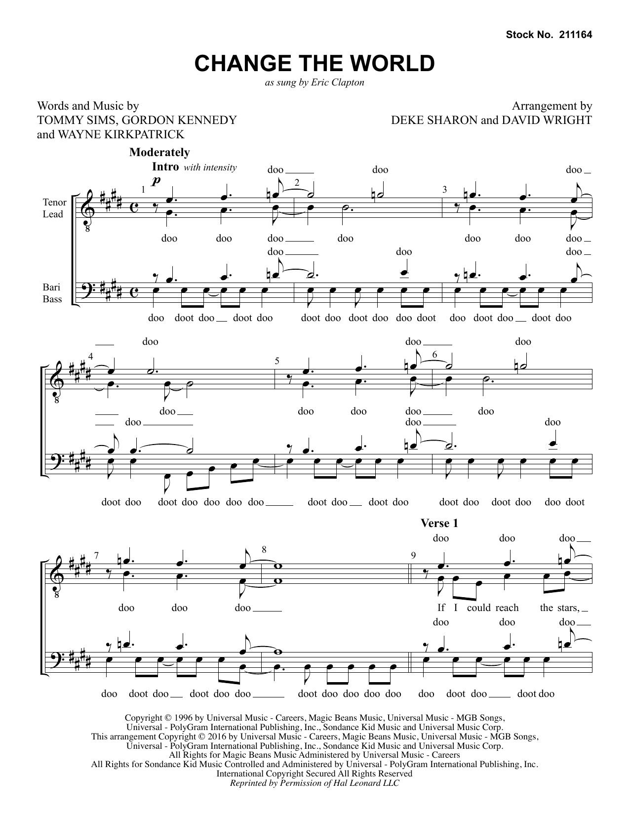 Change The World (arr. Deke Sharon, David Wright) Partition Digitale