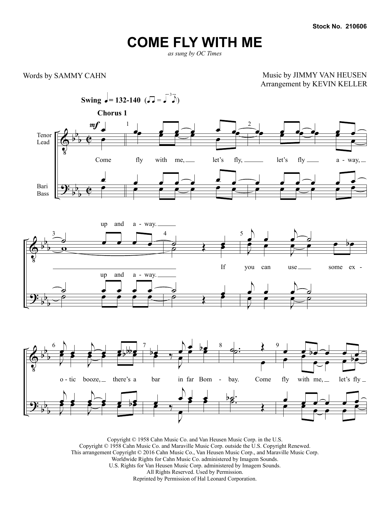 Come Fly with Me (arr. Kevin Keller) Partition Digitale
