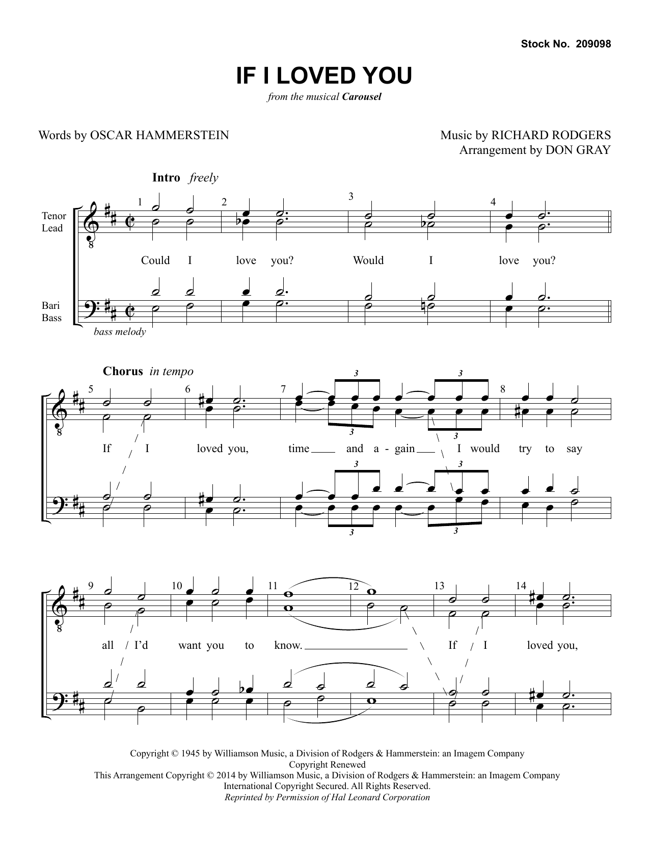 If I Loved You (from Carousel) (arr. Don Gray) Digitale Noten