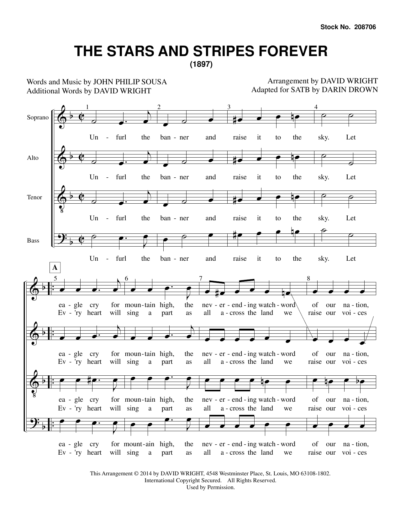The Stars and Stripes Forever (arr. David Wright) Partition Digitale