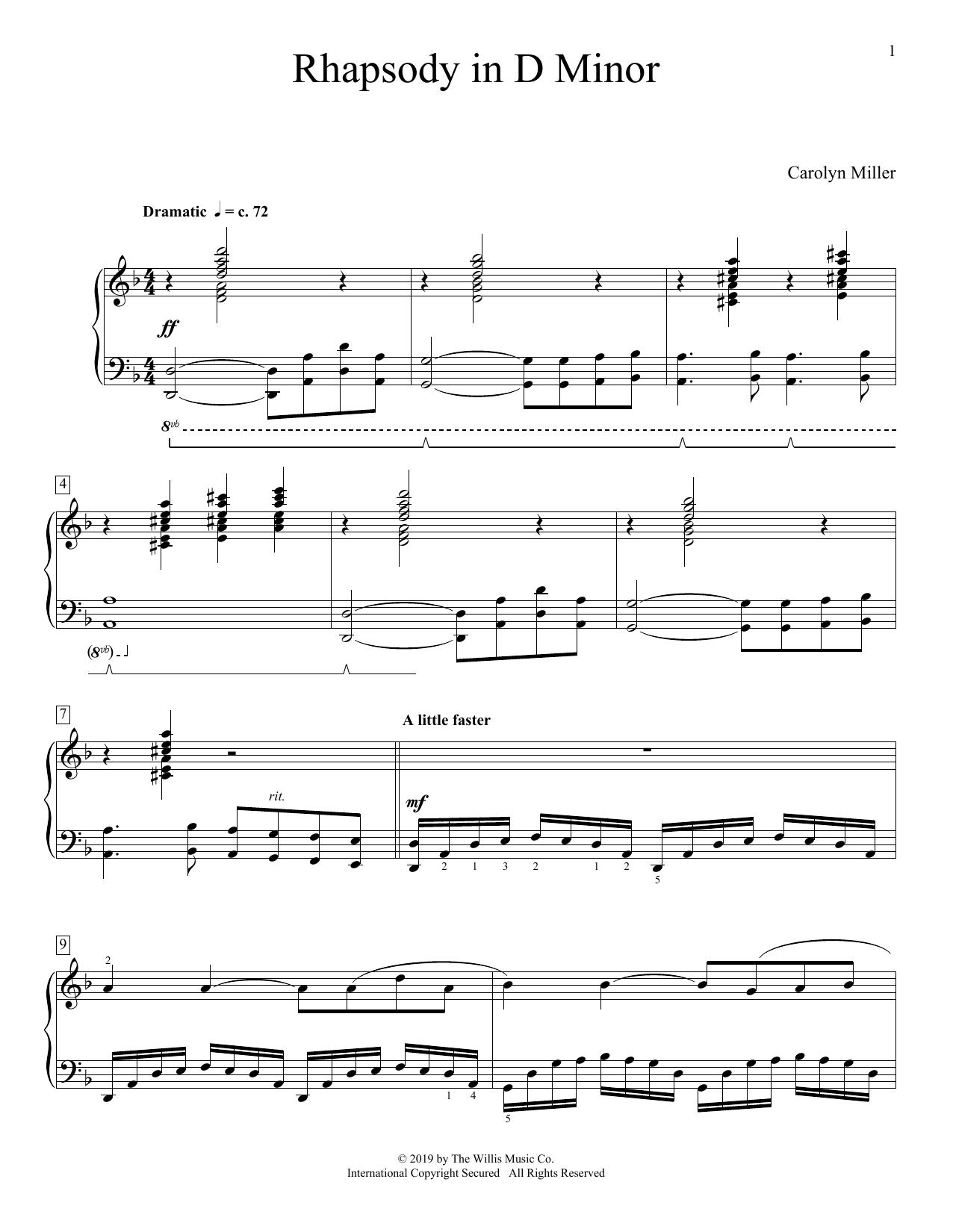 Rhapsody In D Minor (Educational Piano)