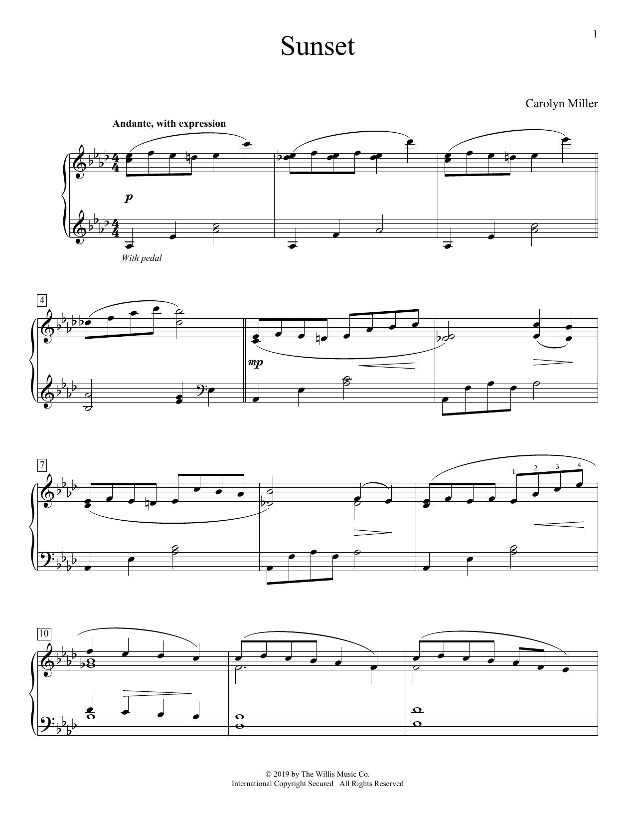 Sunset (Educational Piano)