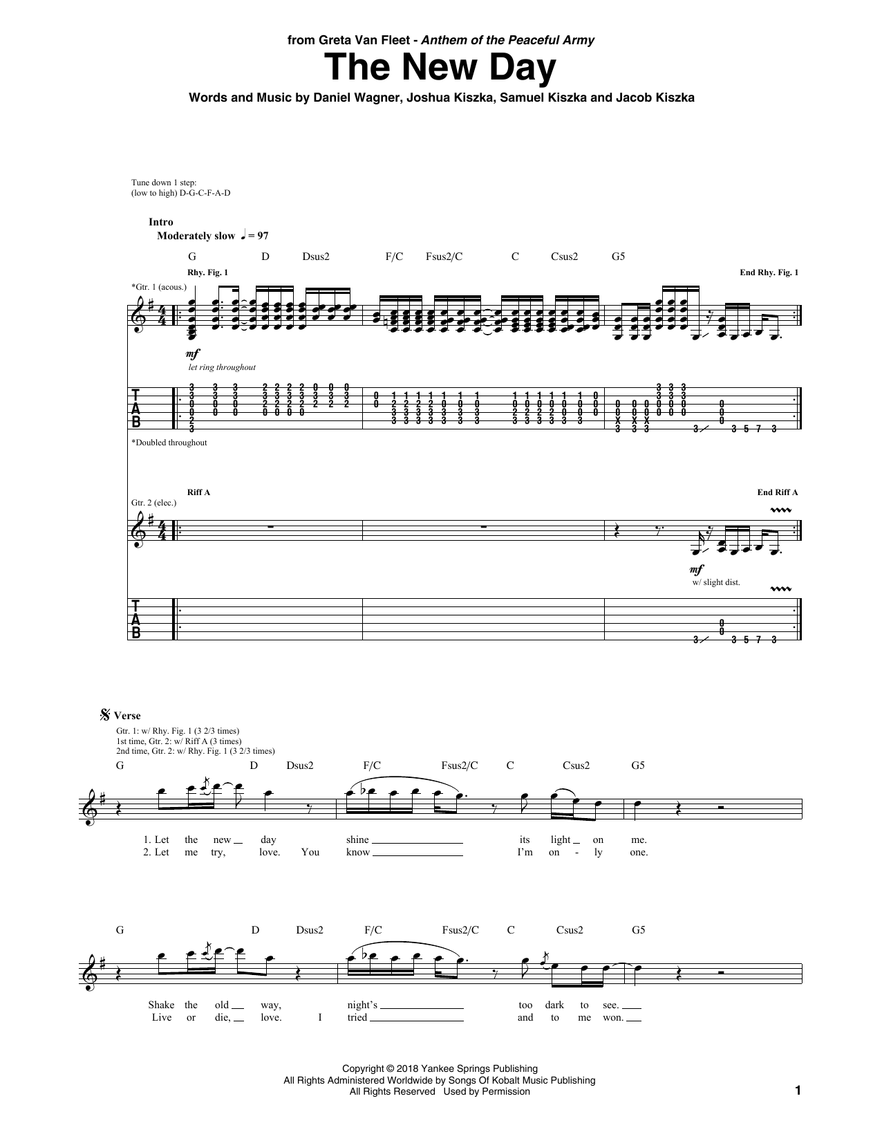 The New Day (Guitar Tab)