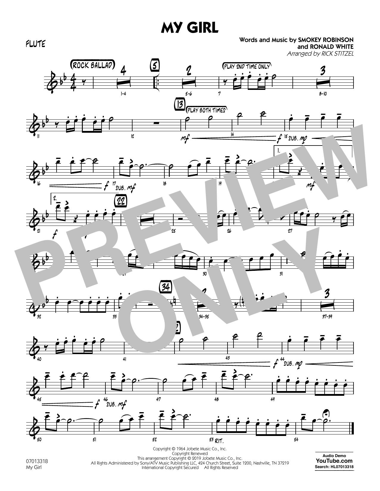 My Girl (arr. Rick Stitzel) - Flute (Jazz Ensemble)