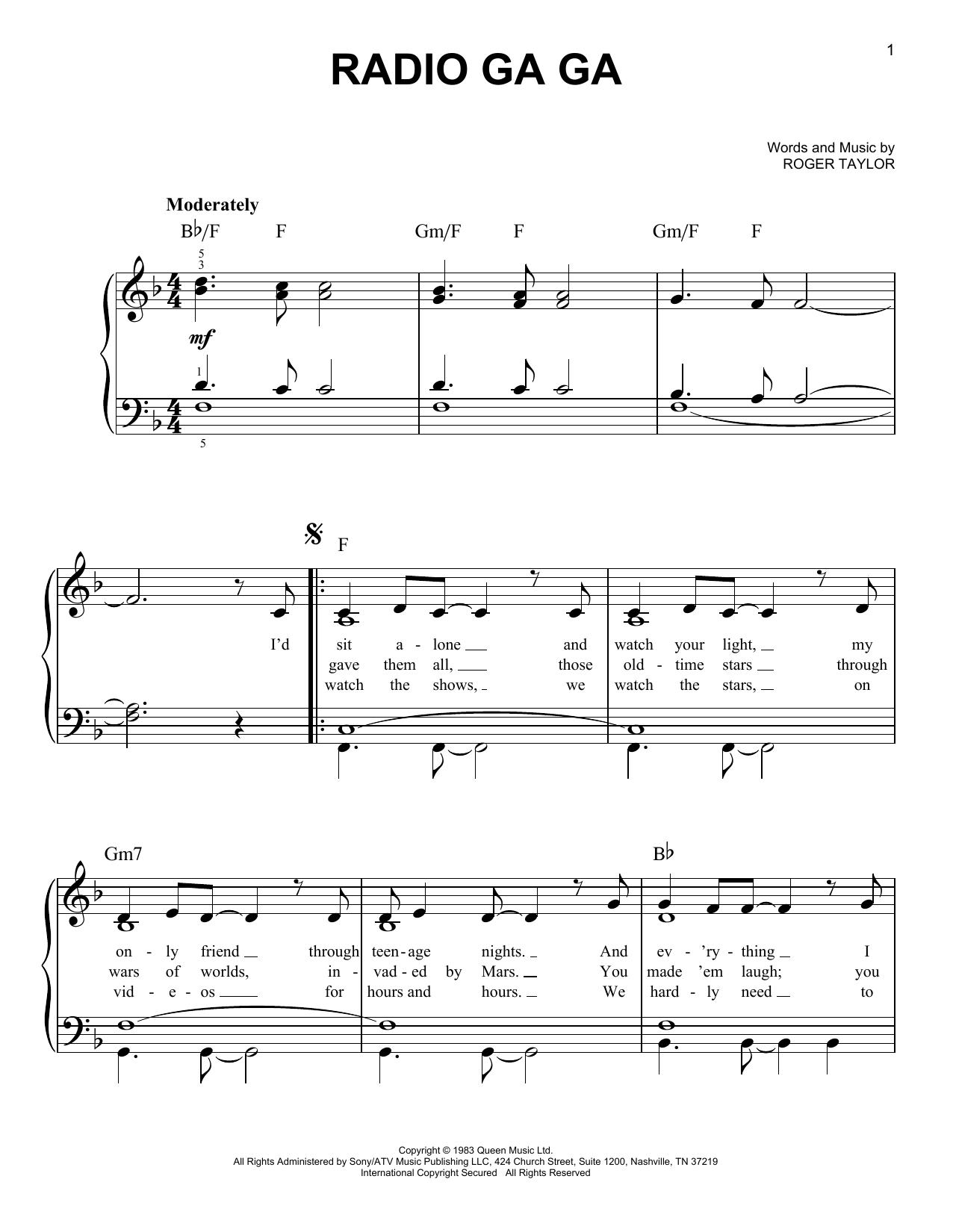 Radio Ga Ga (Easy Piano)