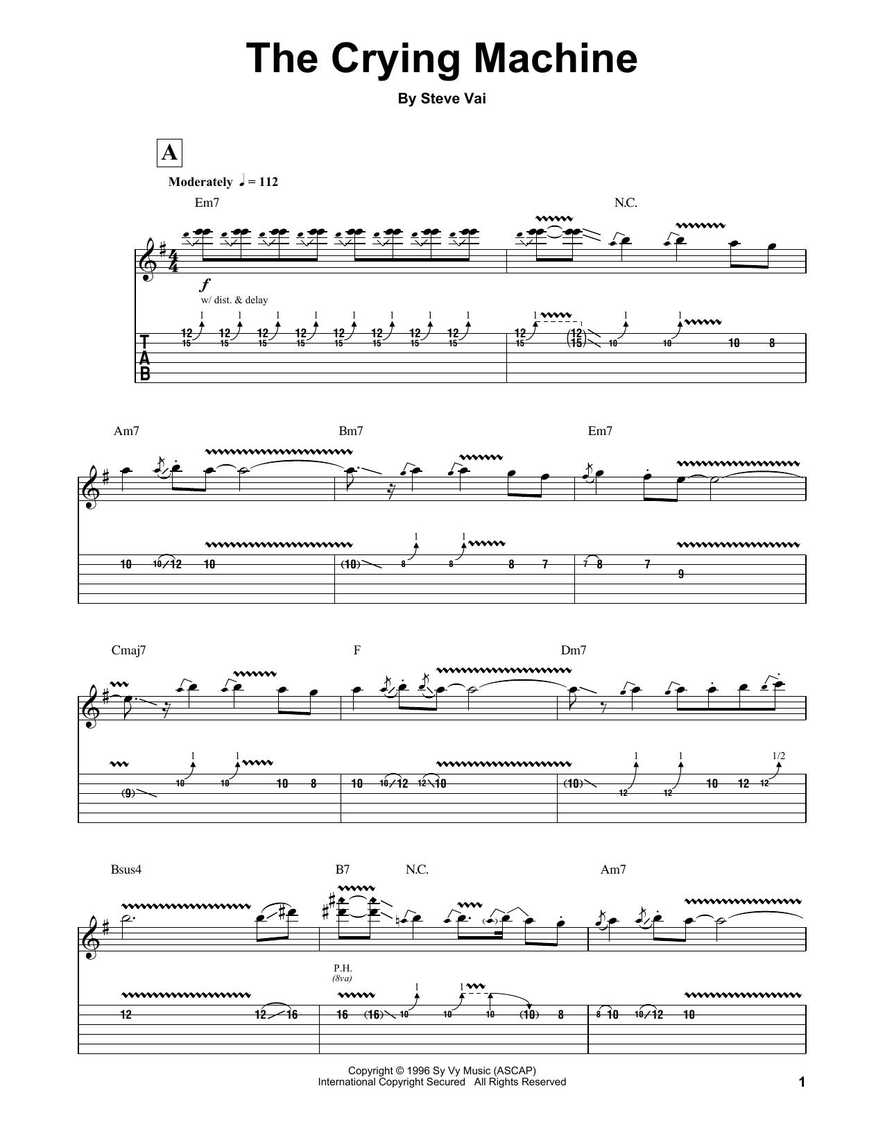 The Crying Machine (Guitar Tab (Single Guitar))