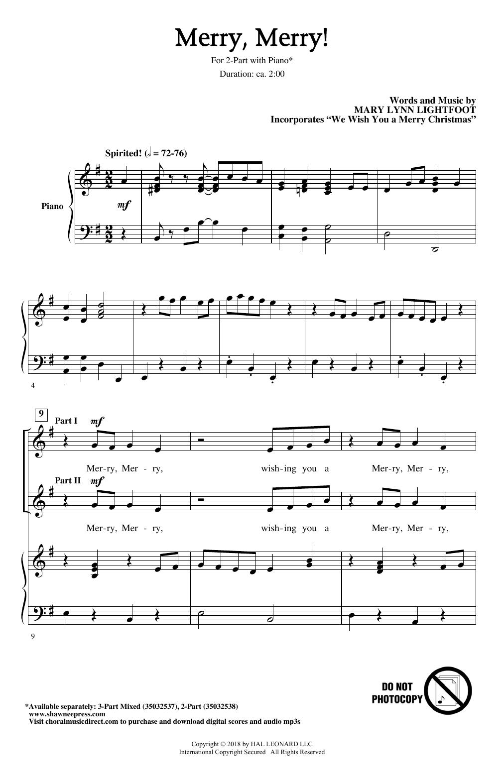 Merry, Merry! (2-Part Choir)