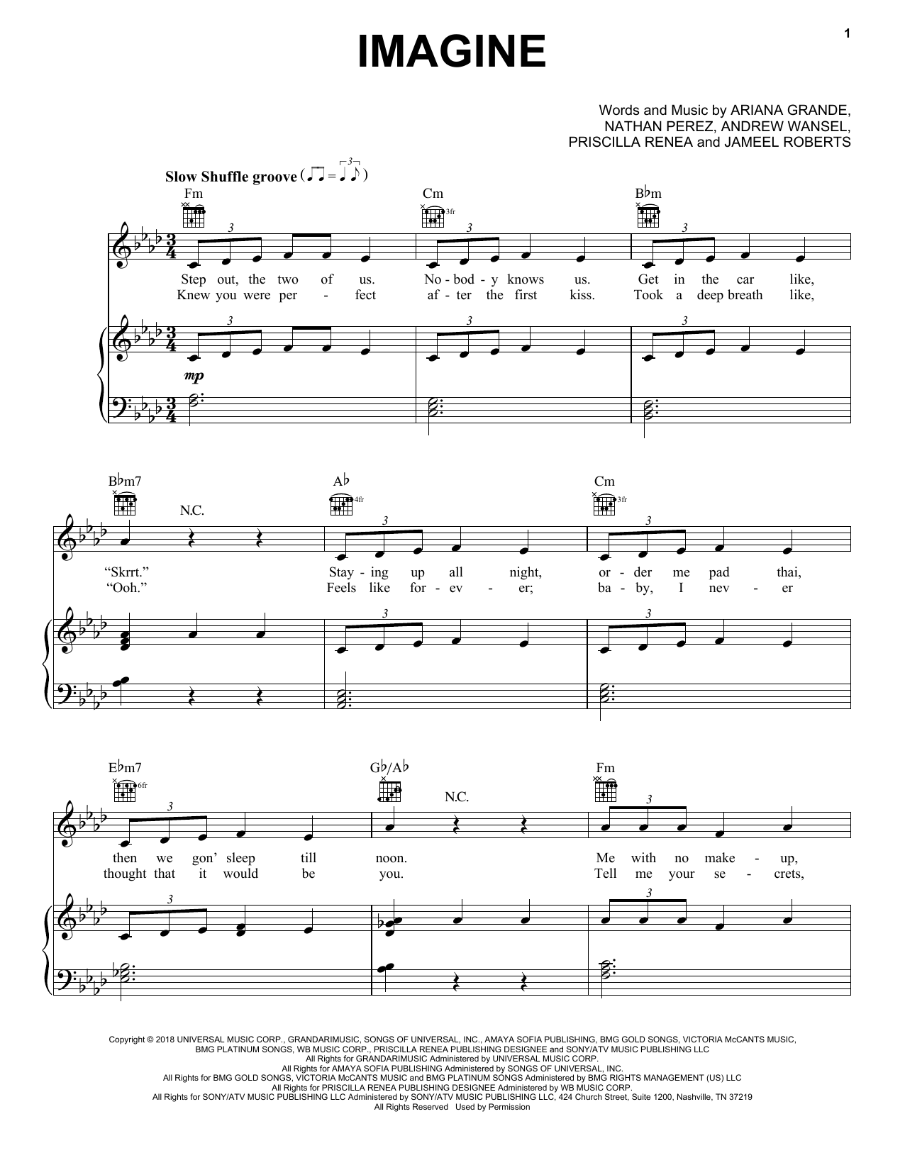Imagine (Piano, Vocal & Guitar (Right-Hand Melody))