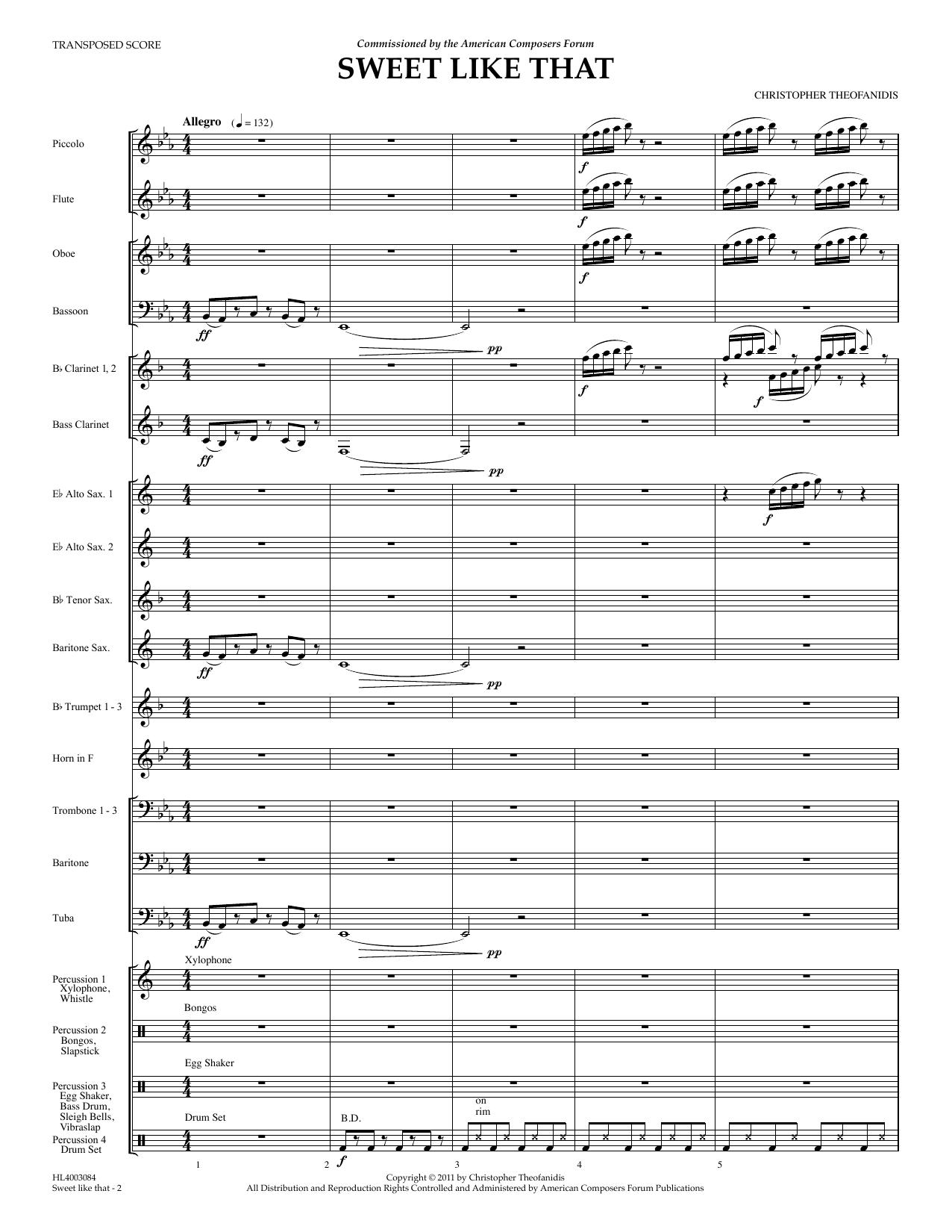 Sweet Like That - Full Score Sheet Music