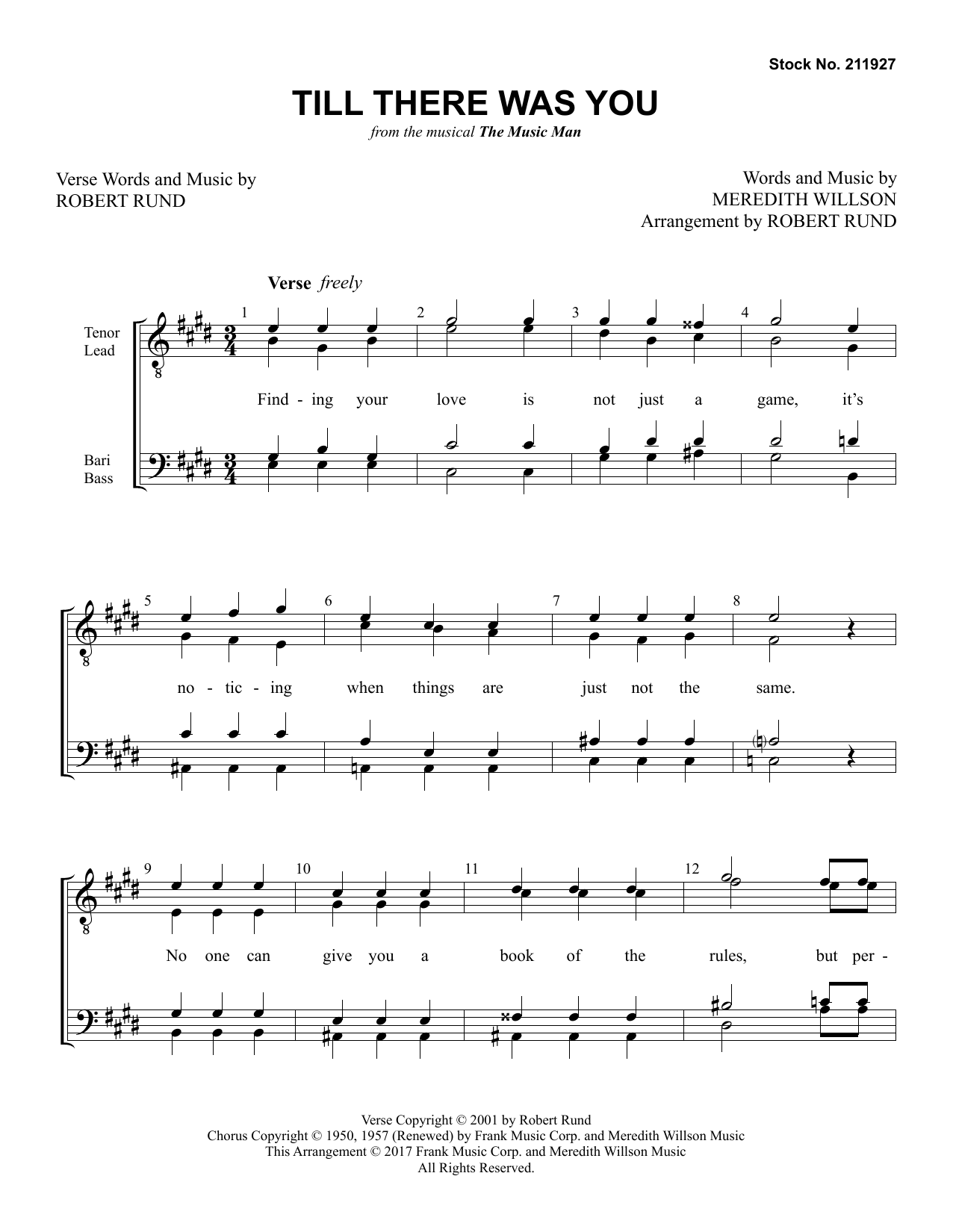 Till There Was You (from The Music Man) (arr. Robert Rund) Partition Digitale