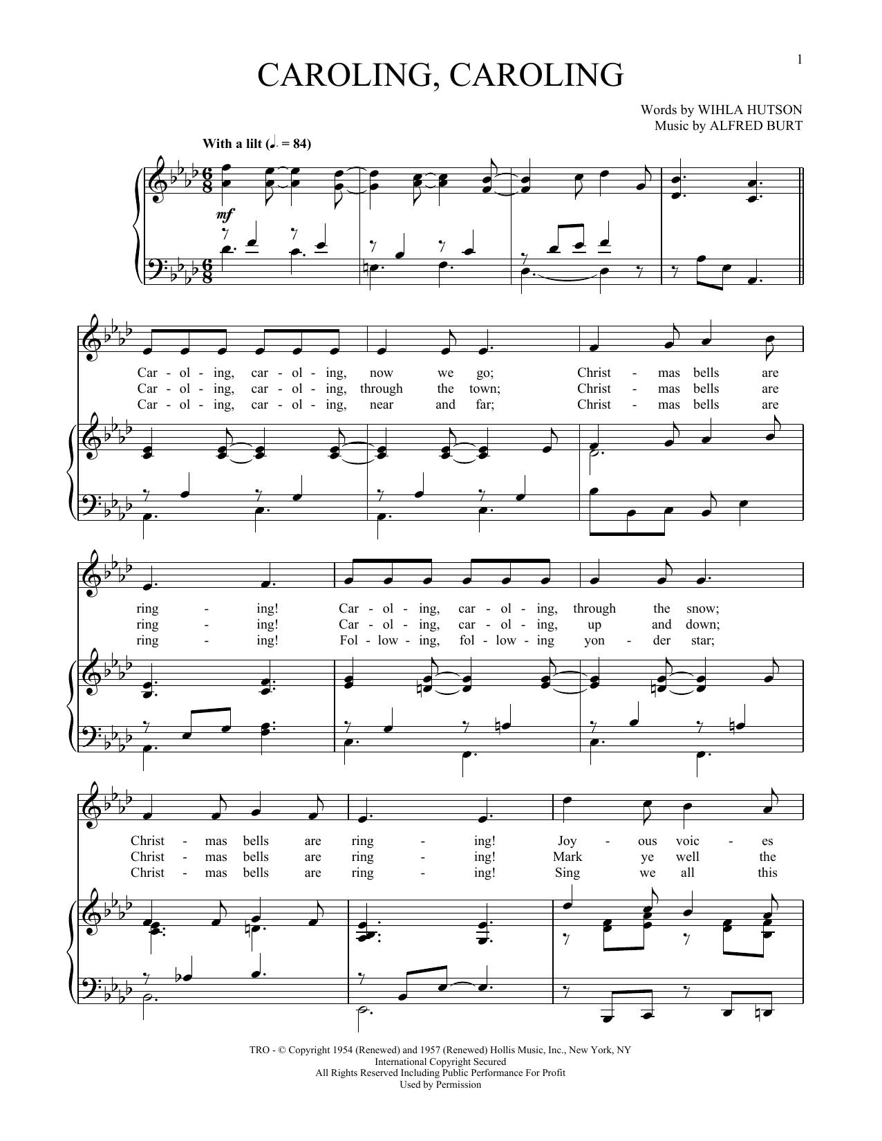 Caroling, Caroling (Piano & Vocal)
