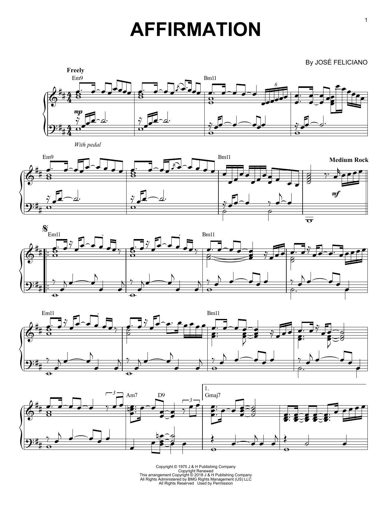 Affirmation (Piano Solo)