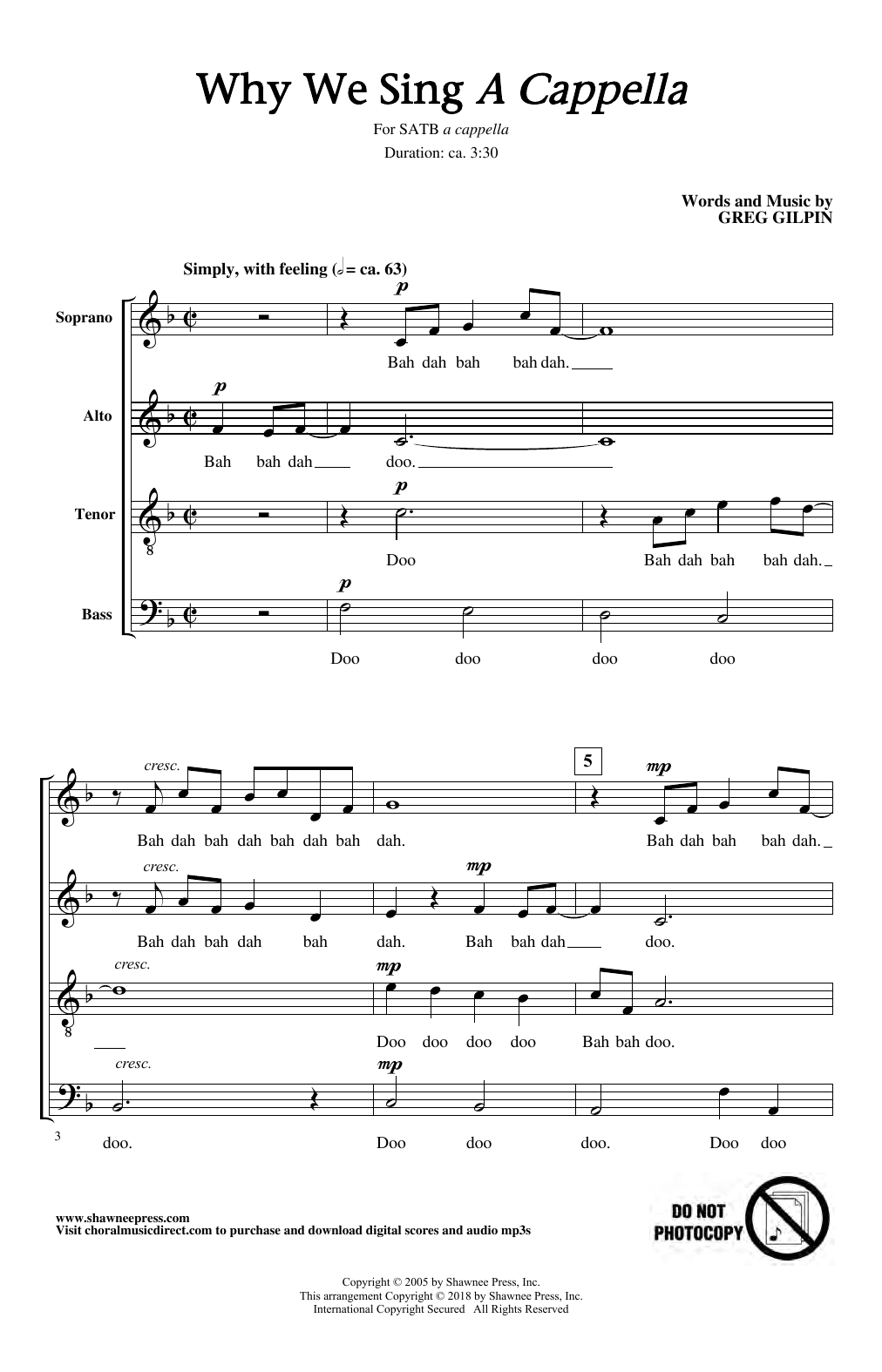 Why We Sing (SATB Choir)