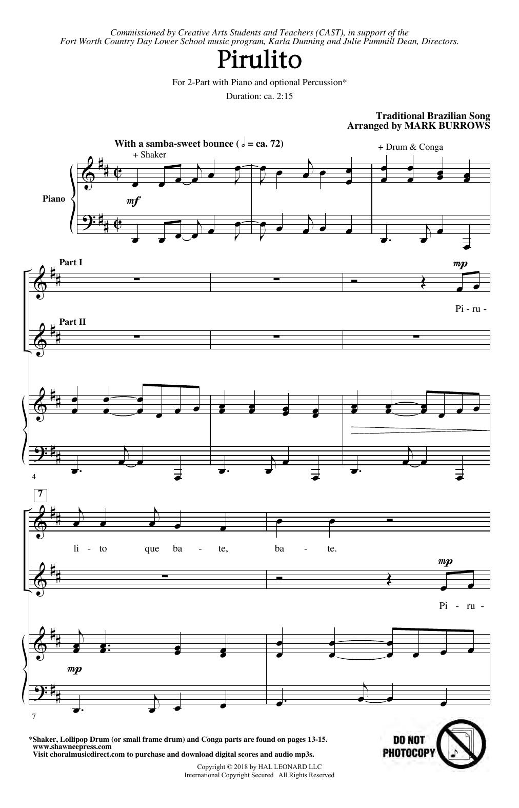 Pirulito (2-Part Choir)