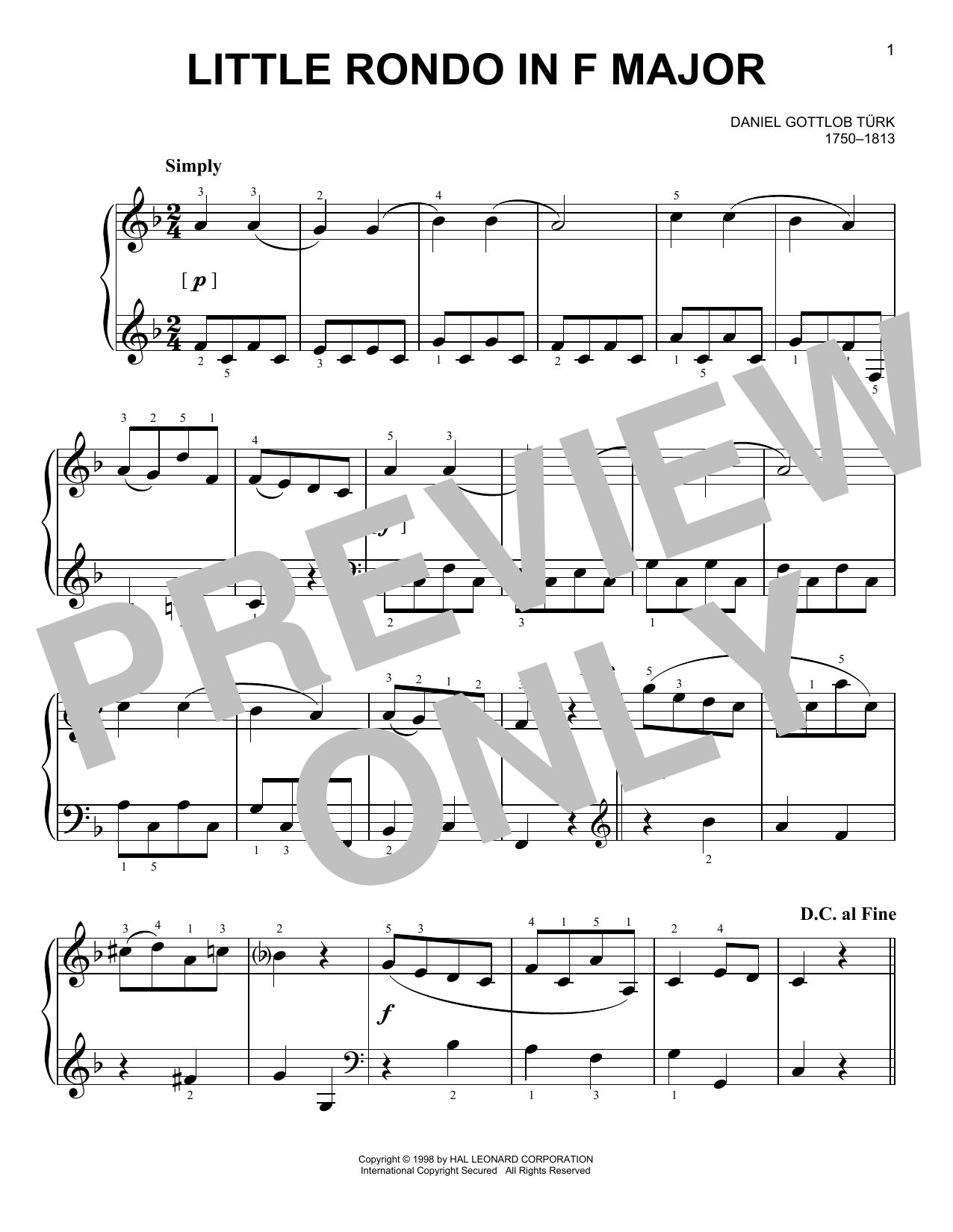 Little Rondo (Easy Piano)
