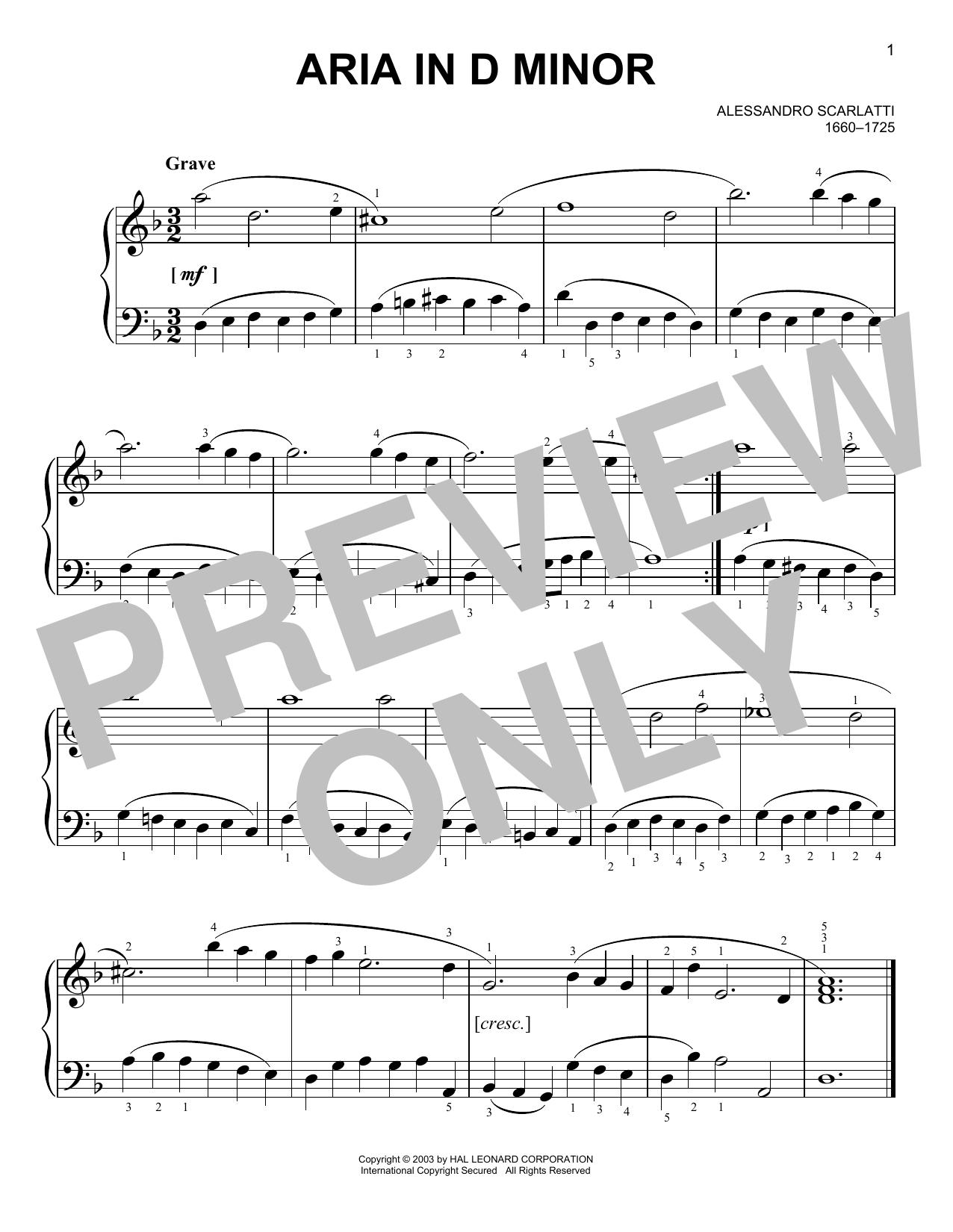 Aria (Easy Piano)