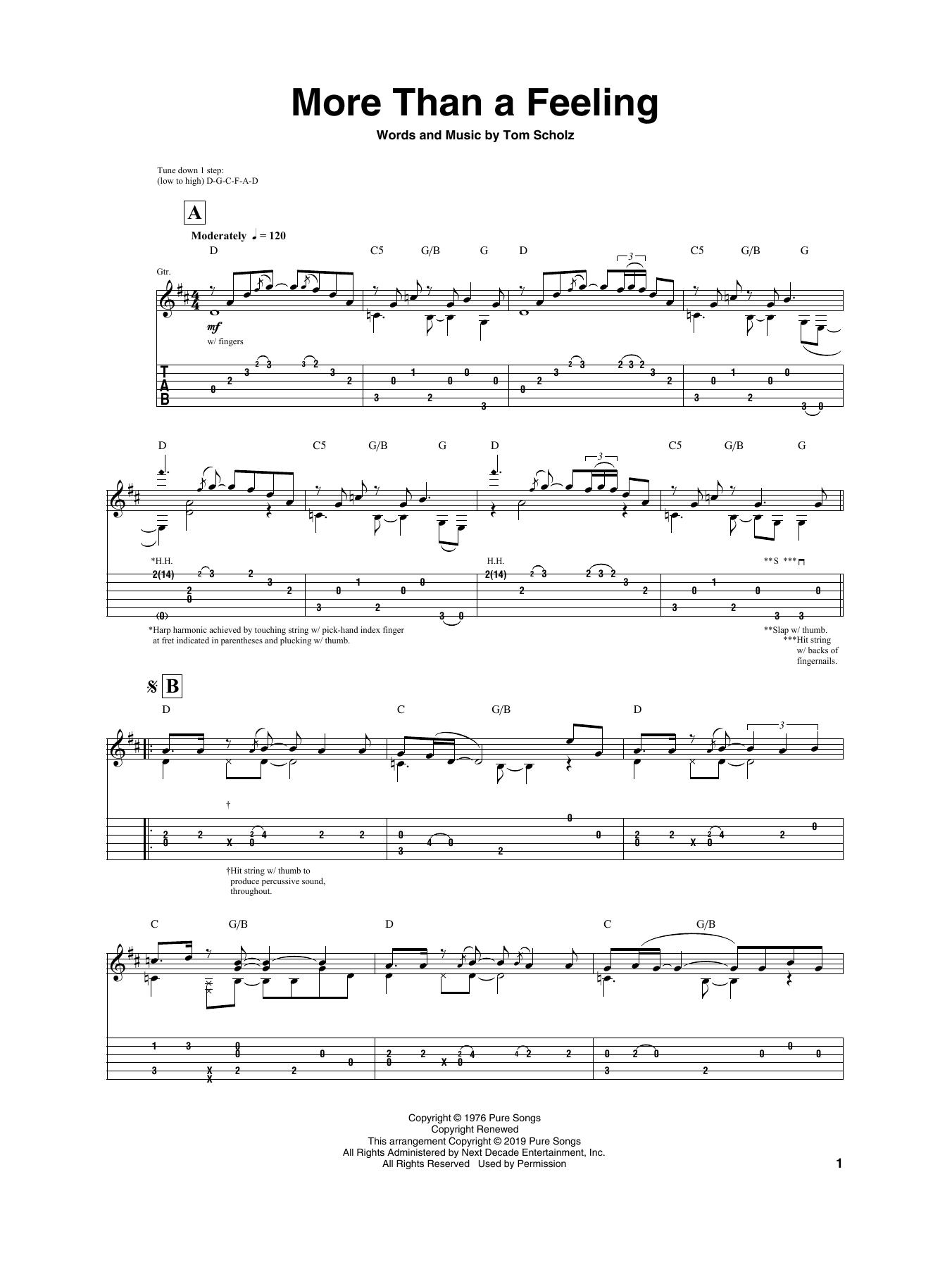 More Than A Feeling (Guitar Tab)