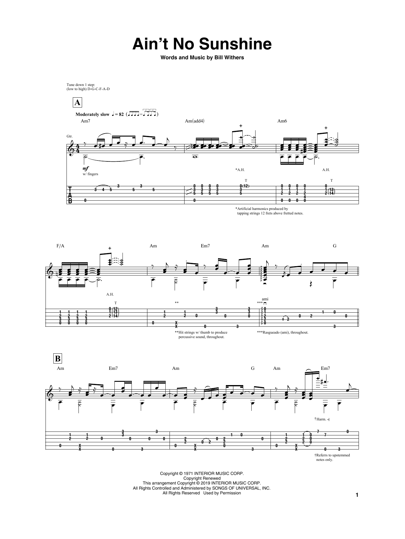 Ain T No Sunshine By Igor Presnyakov Guitar Tab Guitar Instructor Chordsound to play your music, study scales, positions for guitar, search, manage, request and send chords, lyrics and sheet music. ain t no sunshine by igor presnyakov