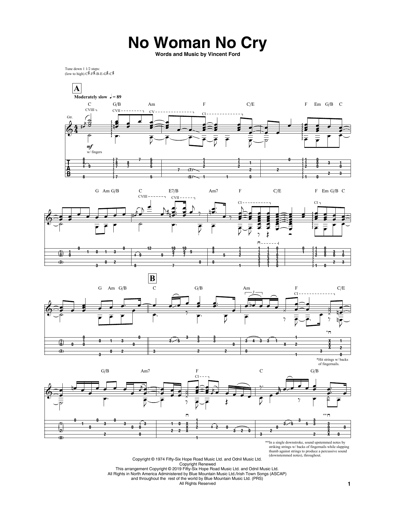 No Woman No Cry (Guitar Tab)