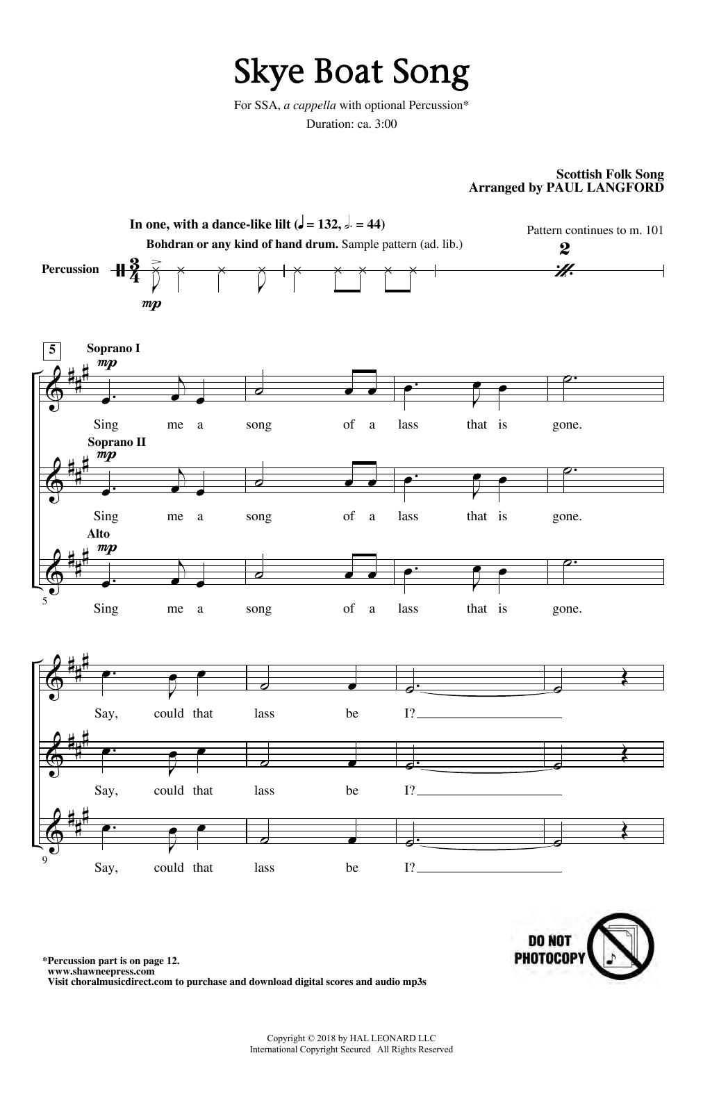 Skye Boat Song (SSA Choir)