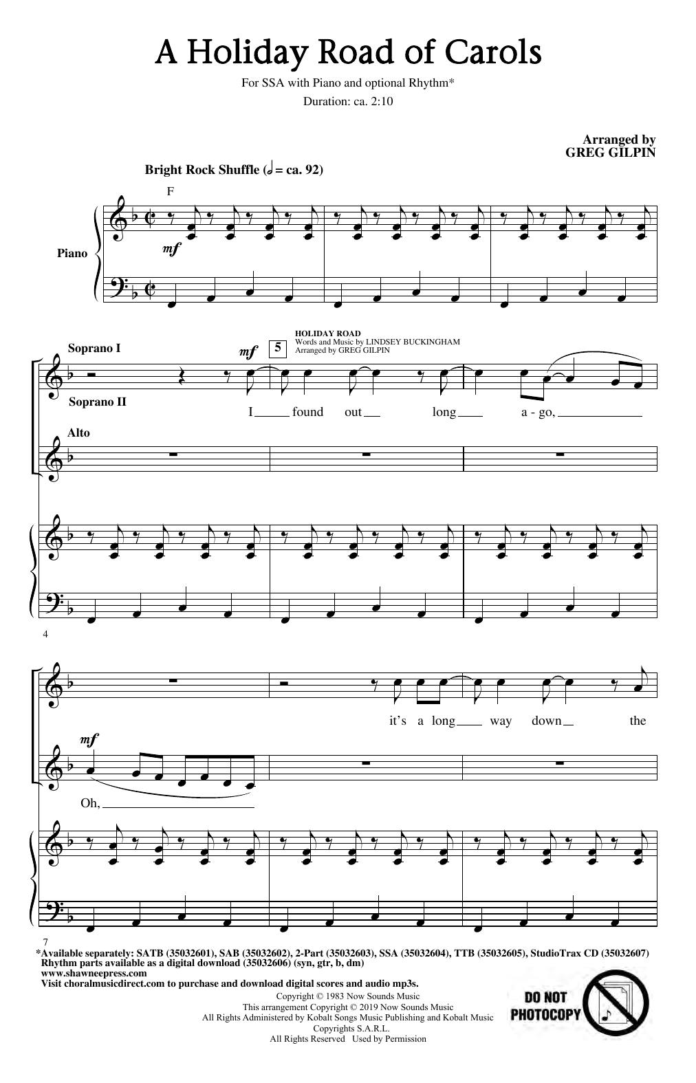 A Holiday Road of Carols (SSA Choir)