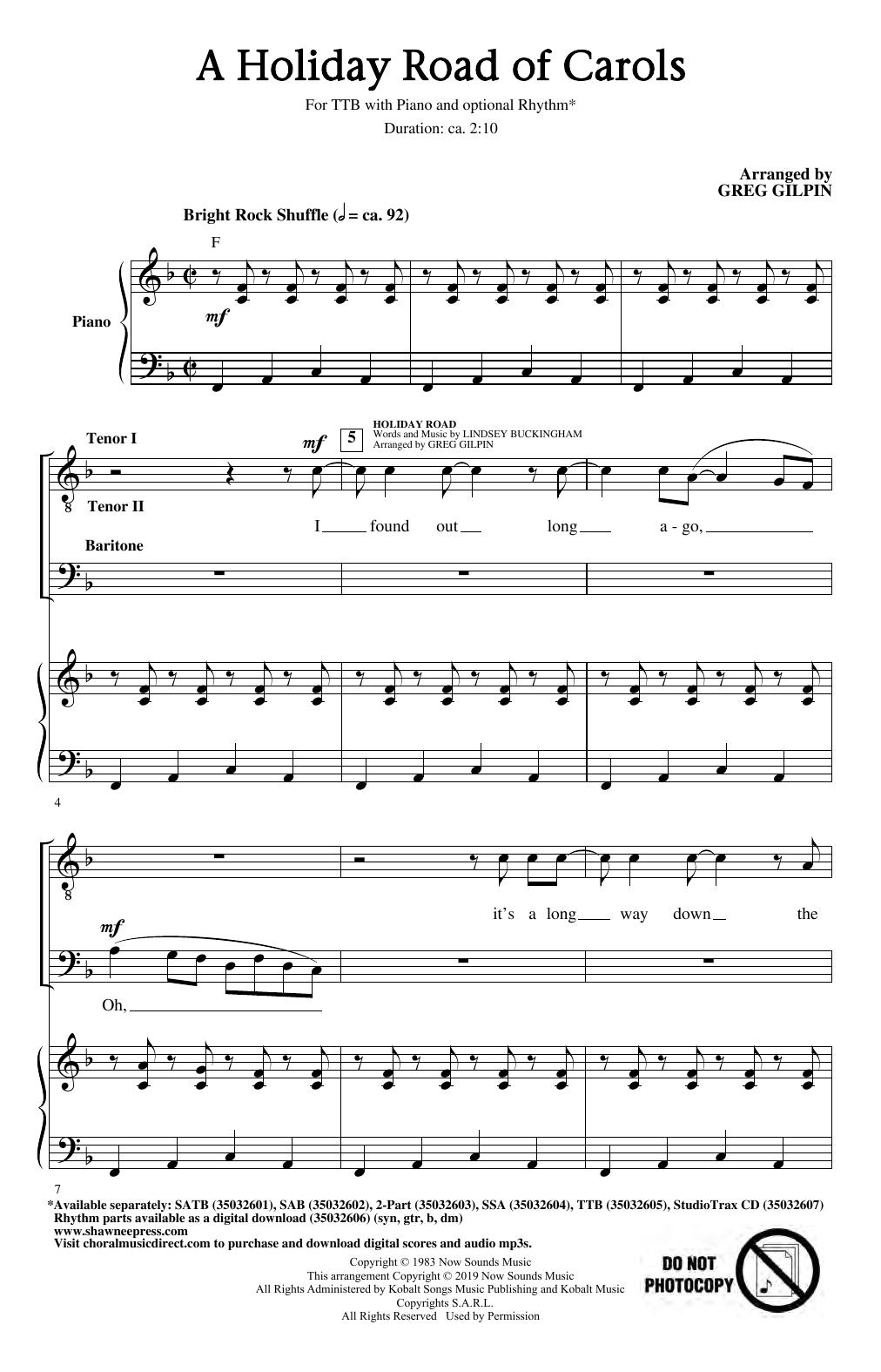 A Holiday Road of Carols (TTBB Choir)