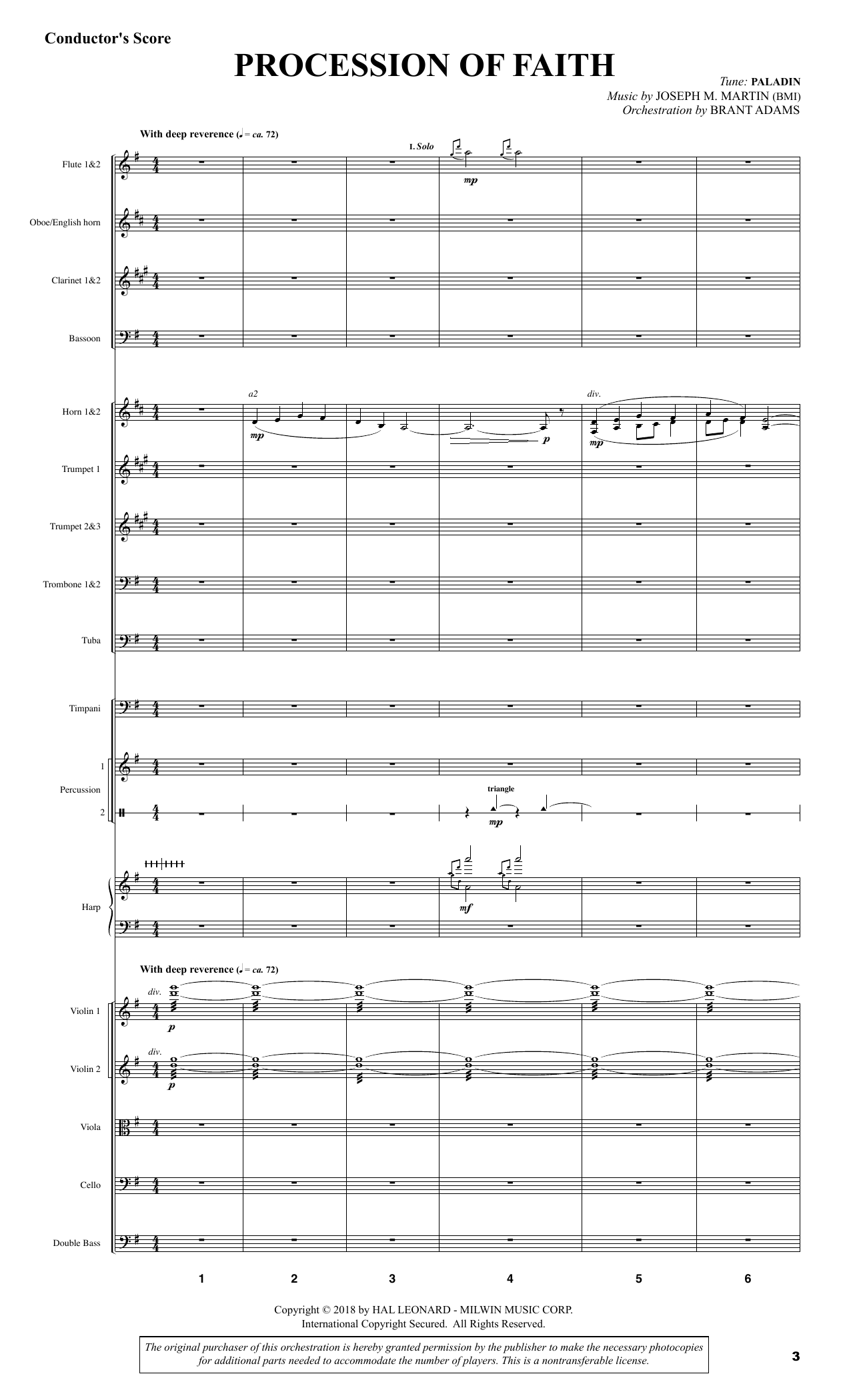 Festival of Faith - Score (Choir Instrumental Pak)