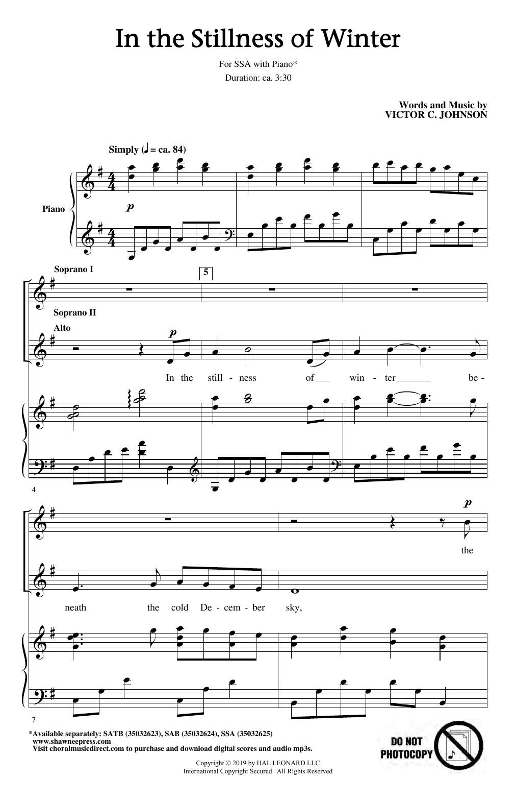 In The Stillness Of Winter (SSA Choir)