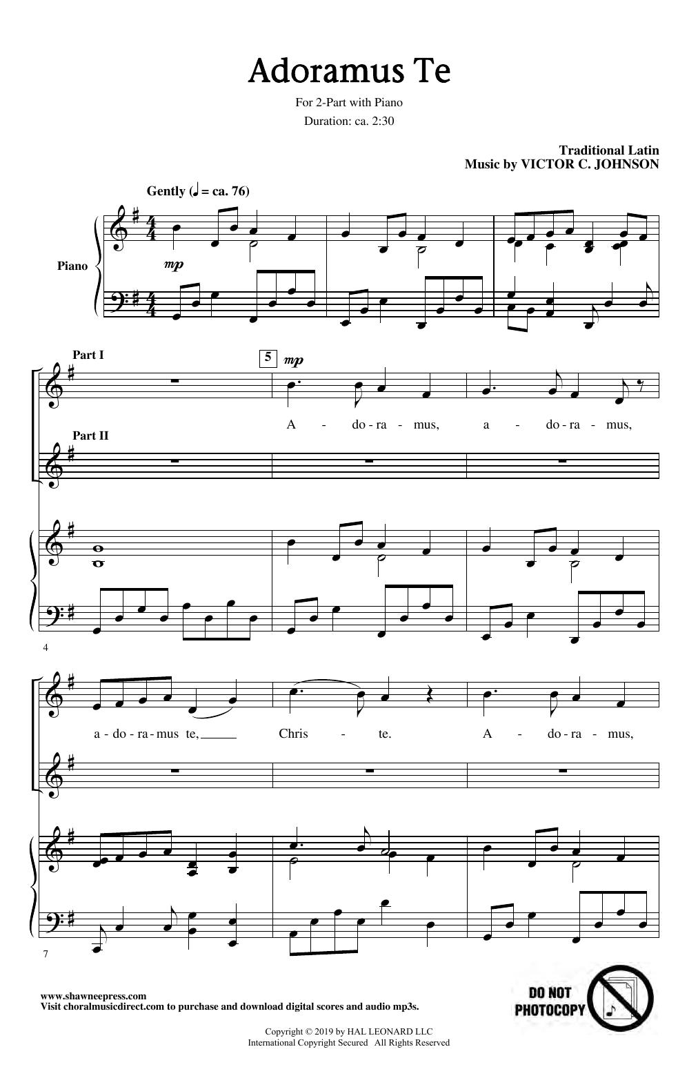 Adoramus Te (2-Part Choir)