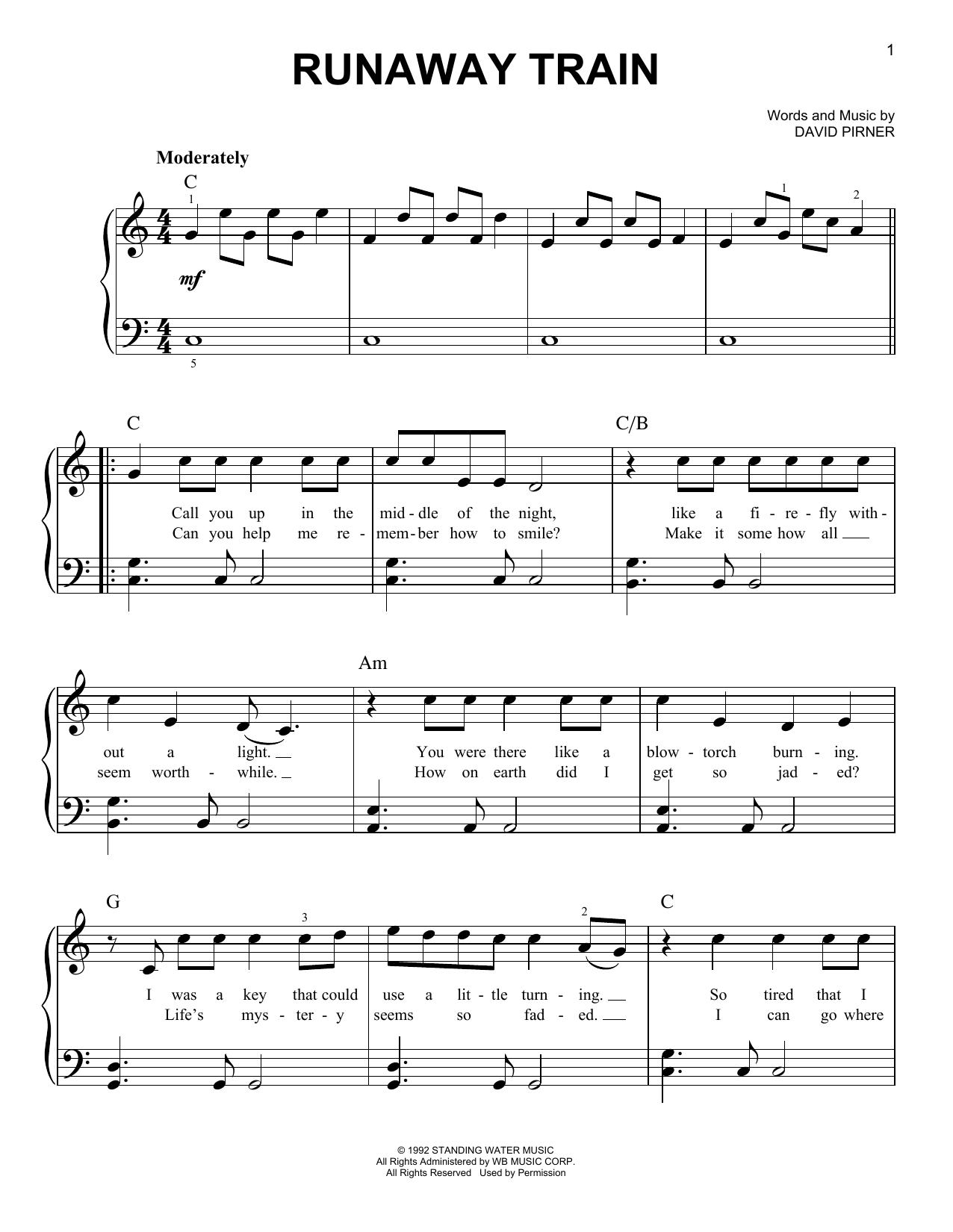 Runaway Train (Easy Piano)