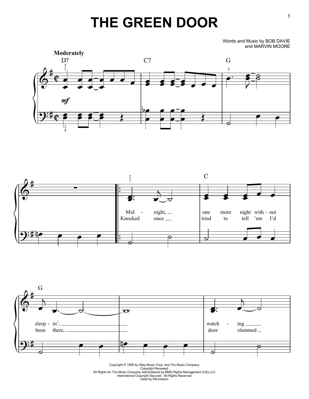 The Green Door (Easy Piano)