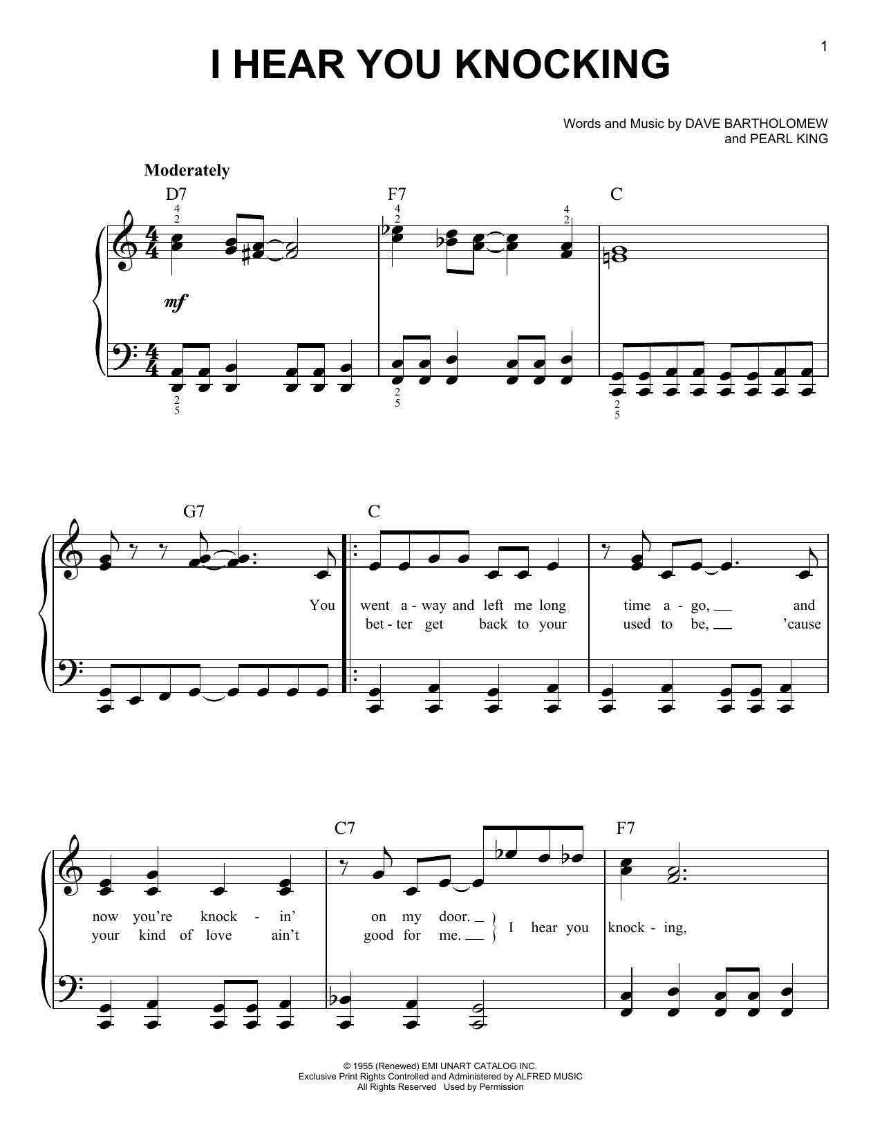 I Hear You Knocking (Easy Piano)
