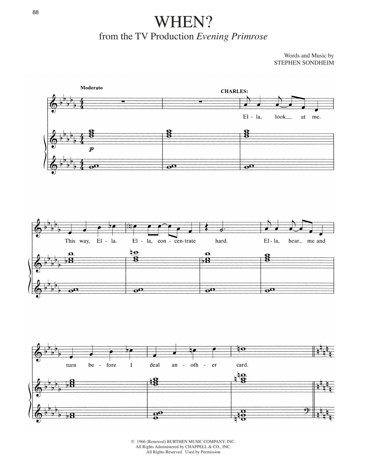 When? (Piano & Vocal)