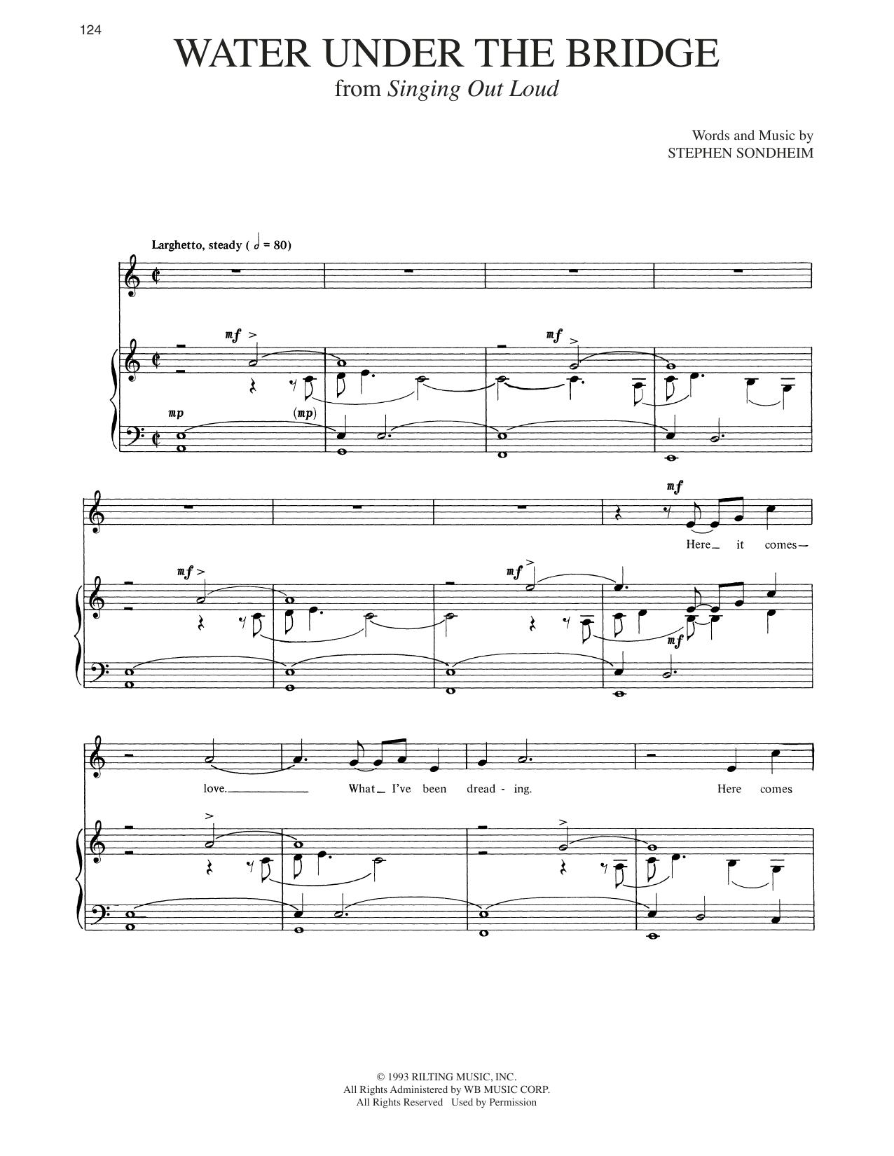 Water Under The Bridge (Piano & Vocal)