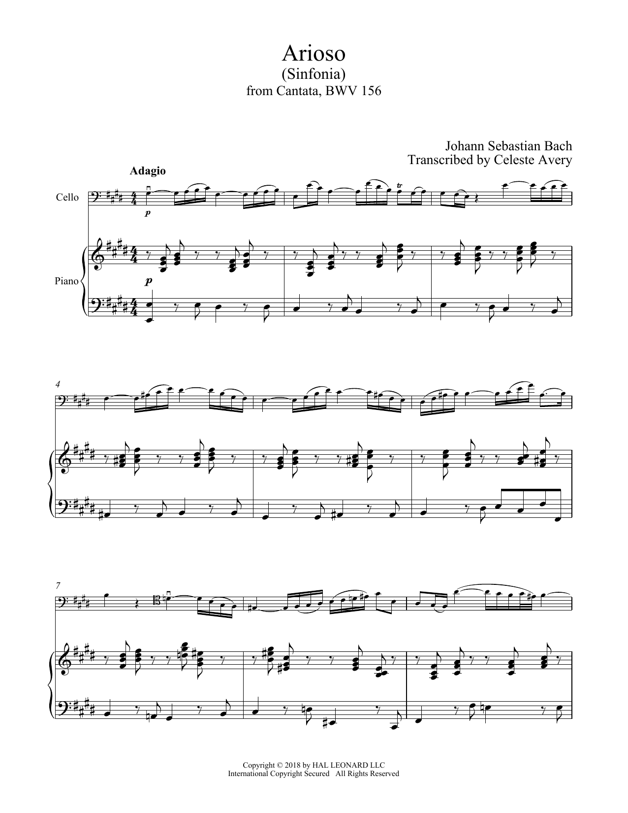 Arioso (Cello and Piano)