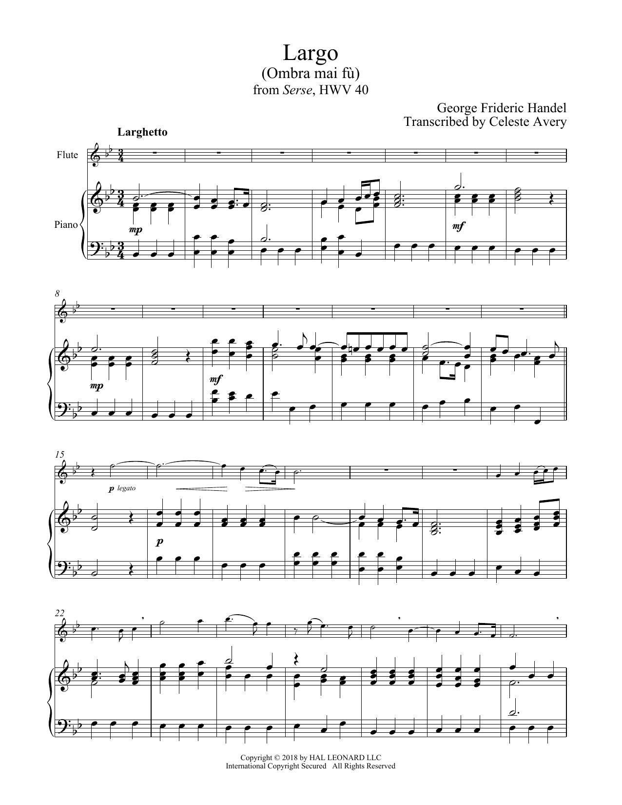 Ombra Mai Fu (Flute and Piano)