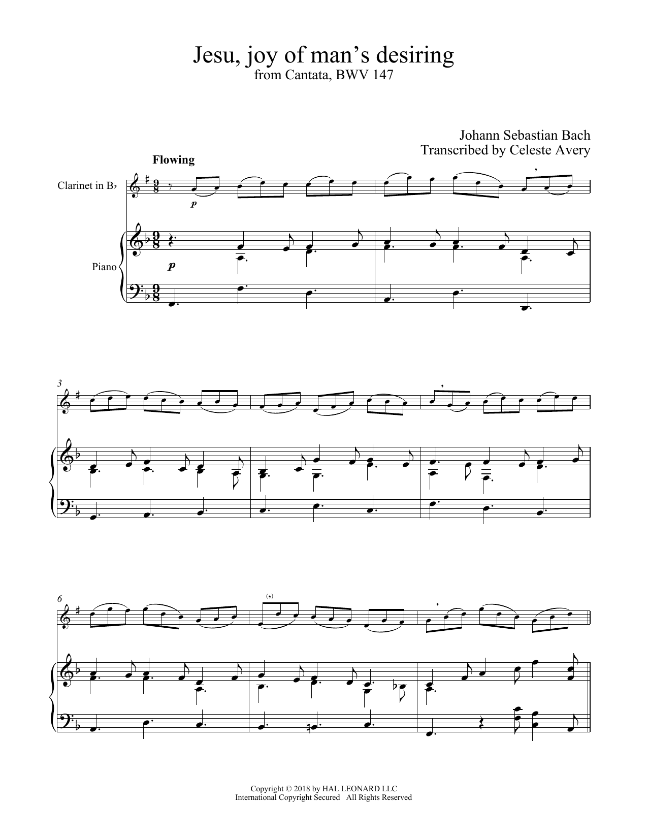 Jesu, Joy Of Man's Desiring (Clarinet and Piano)