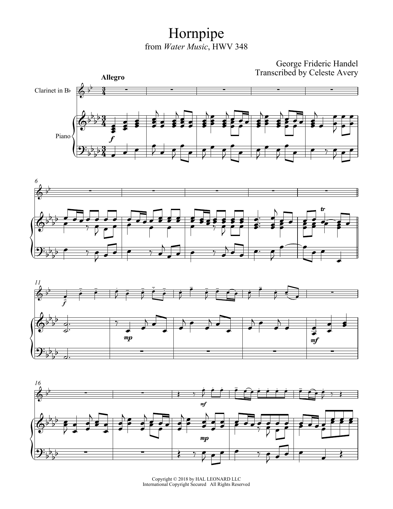 Hornpipe (Clarinet and Piano)